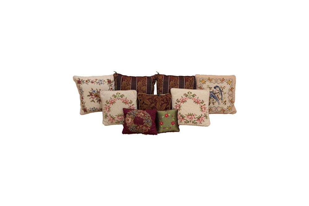 Vintage Decorative and Needlepoint Throw Pillows