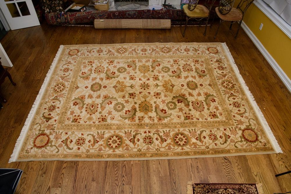 Power-Loomed Persian Peshawar Style Wool Area Rug