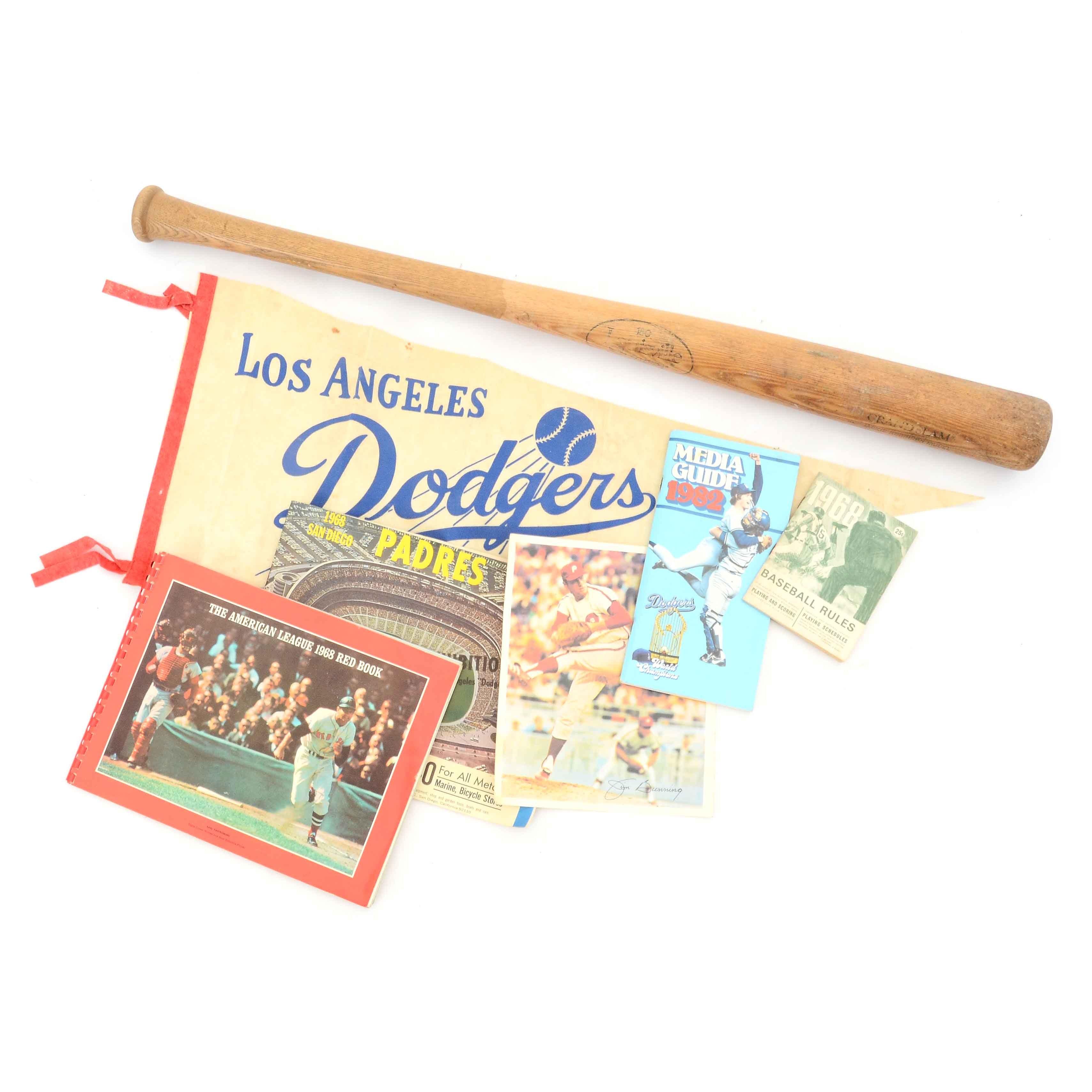 Assorted Vintage Baseball Memorabilia