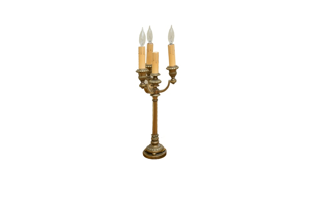 Bronze Candelabra Table Lamp