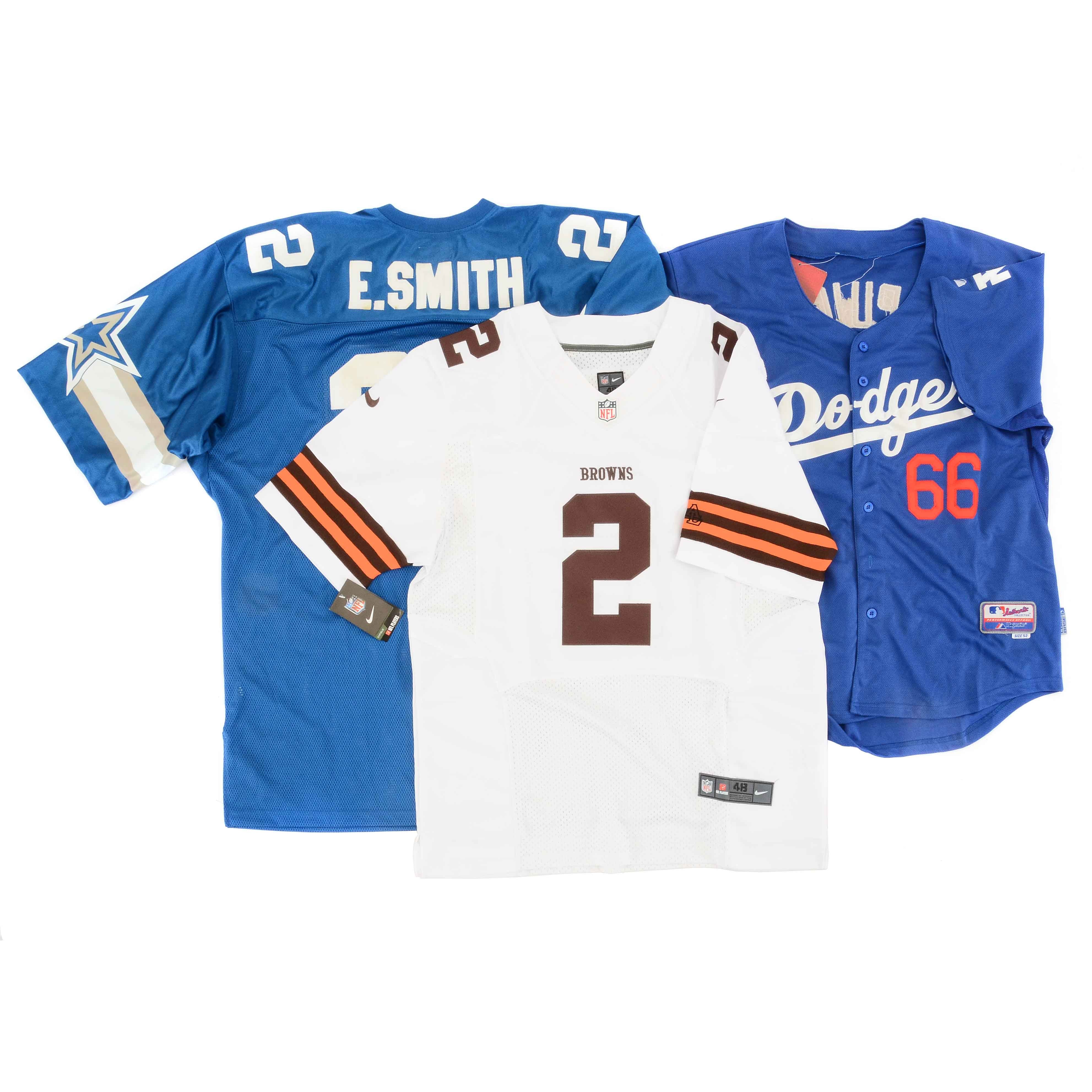 Two NFL and One MLB Jerseys