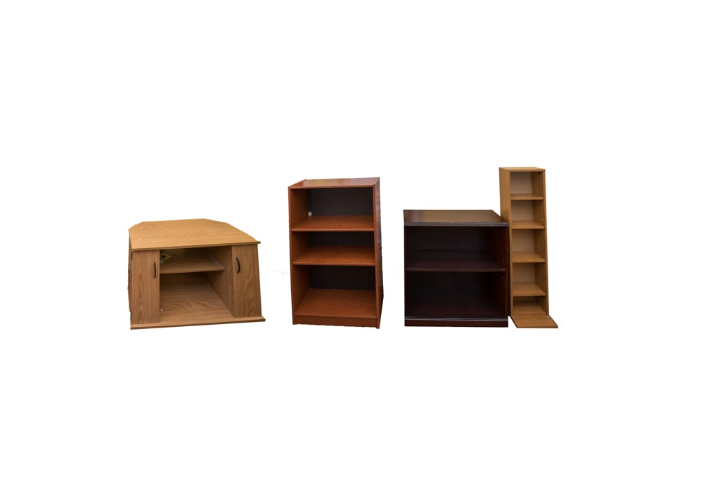 Bookcases and Entertainment Stand