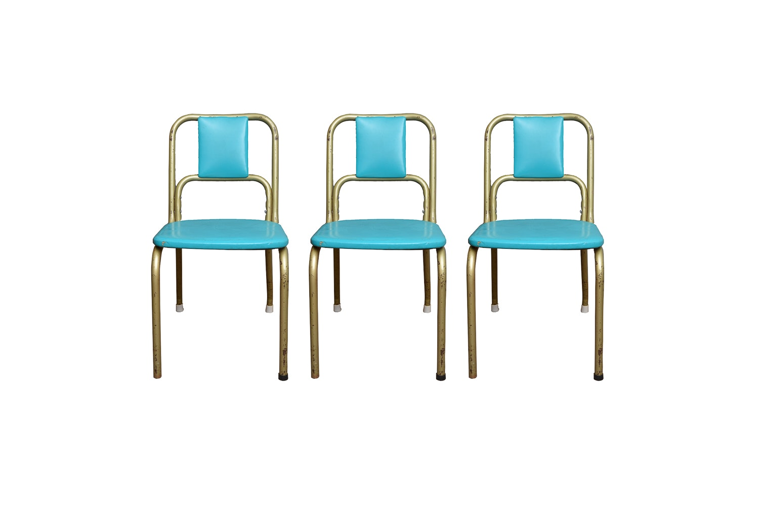 Three Mid Century Modern Dining Chairs from Duro Chrome