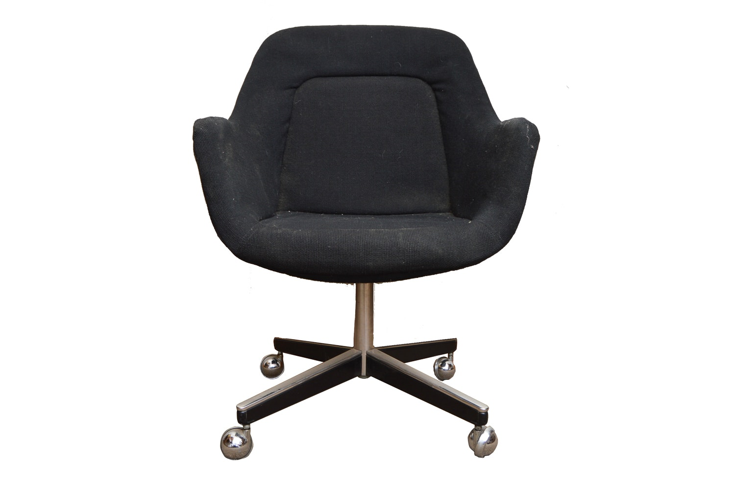 Vintage Mid Century Modern Rolling Office Chair from Knoll
