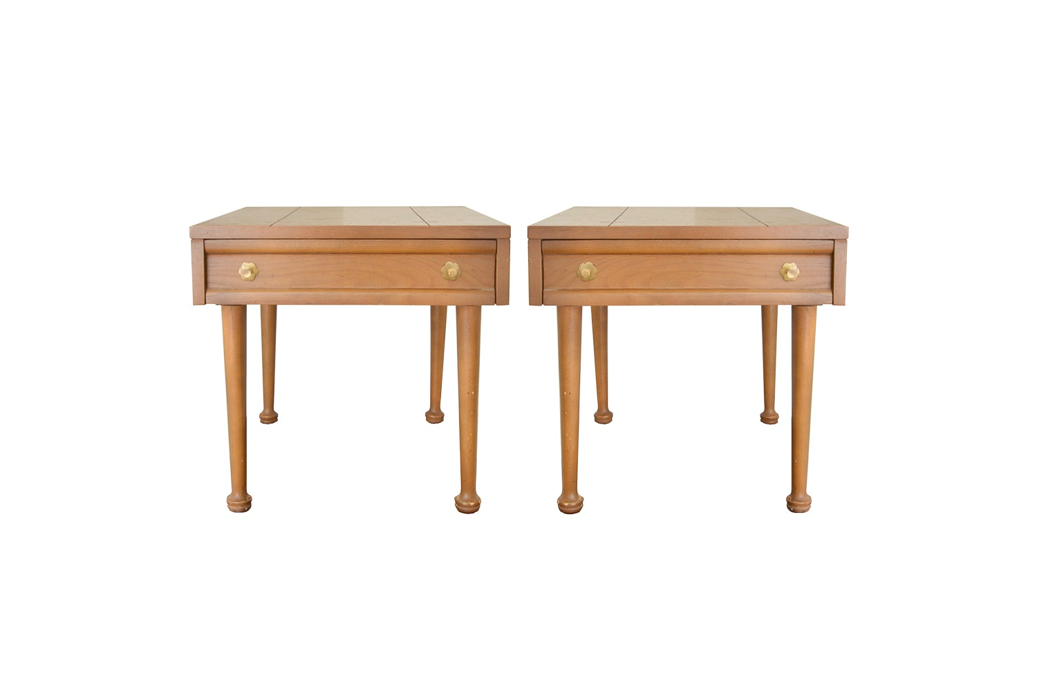 Pair of Walnut Side Tables from American of Martinsville