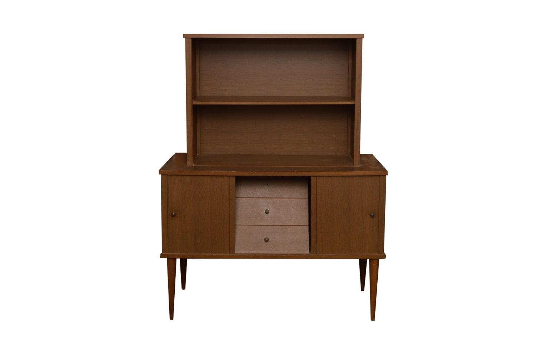 Mid-Century Credenza With Bookshelf