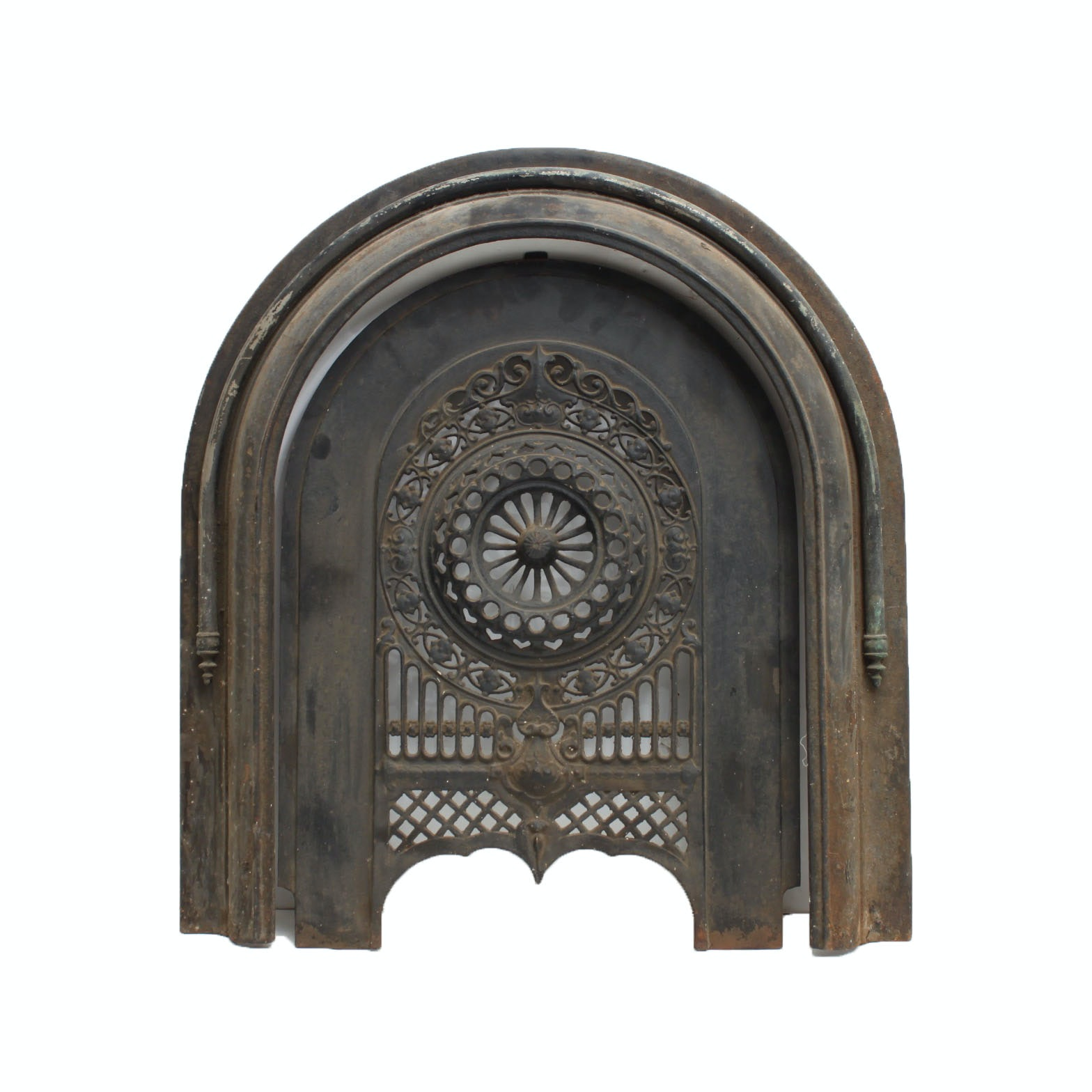 Antique Cast Iron Fireplace Cover And Surround ...