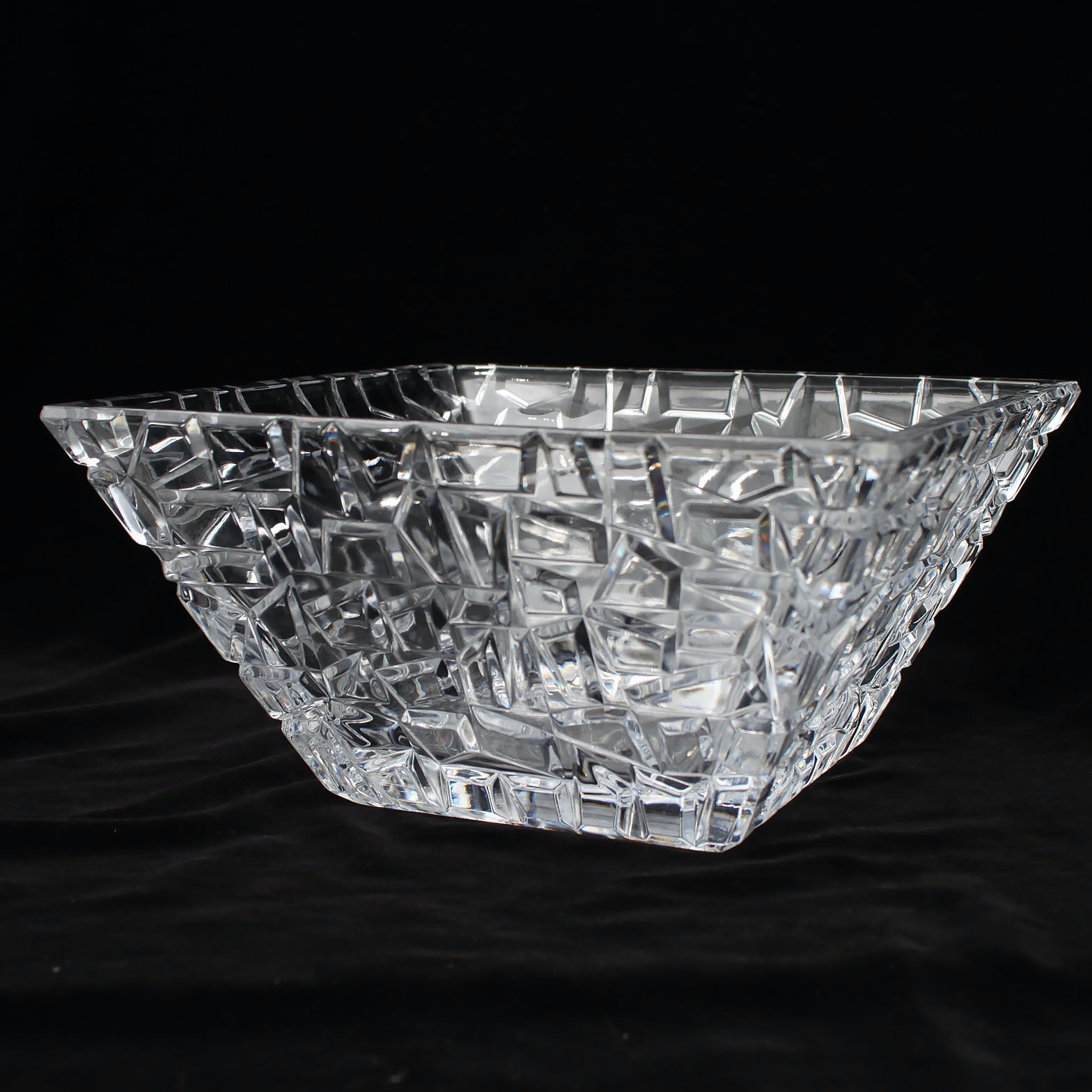 "Tiffany & Co. ""Sierra"" Square Crystal Bowl"