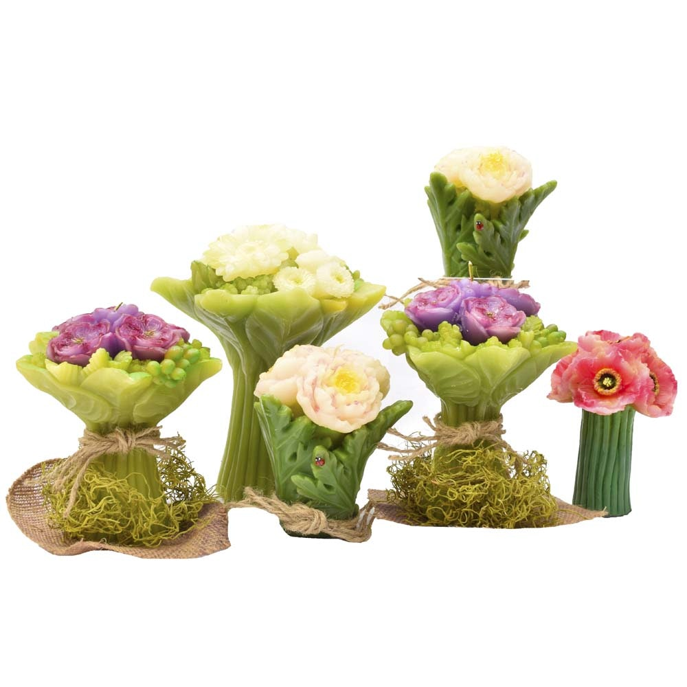Wax Flower-Shaped Candles