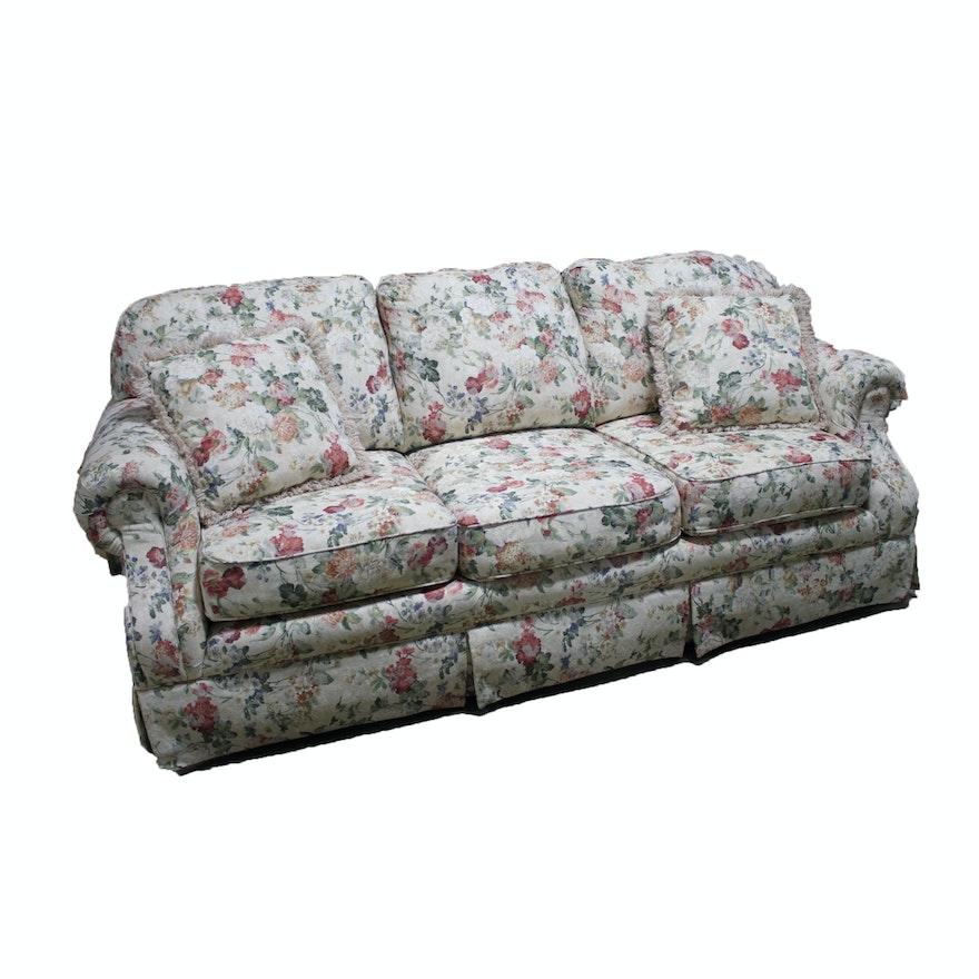 Upholstered Fl Sofa By England A La Z Boy Brand