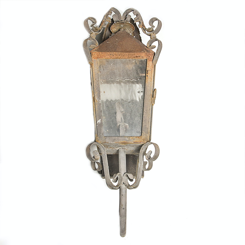 Steel Street Gas Lantern Light