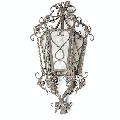 Vintage outdoor lighting used exterior lighting fixtures in wrought iron outdoor wall sconce aloadofball Images