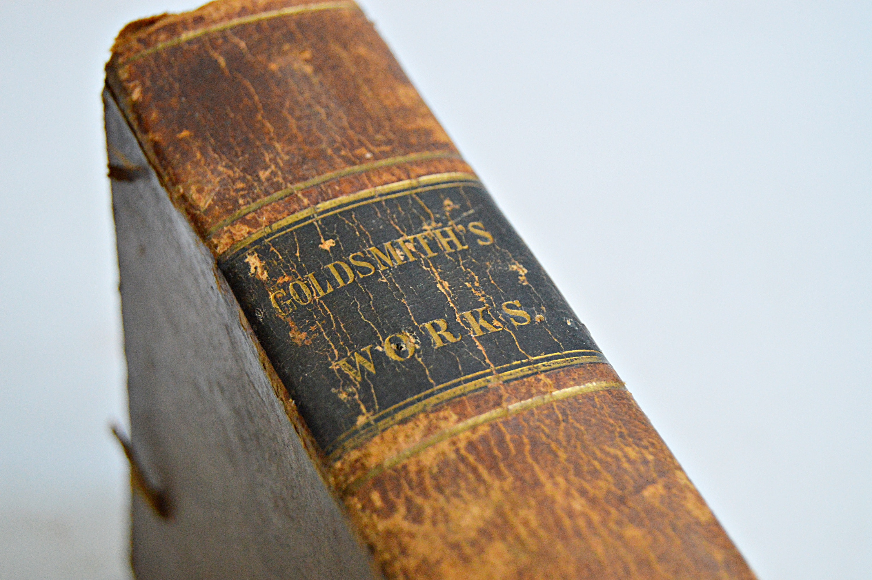 """1836 """"The Miscellaneous Works of Oliver Goldsmith"""""""