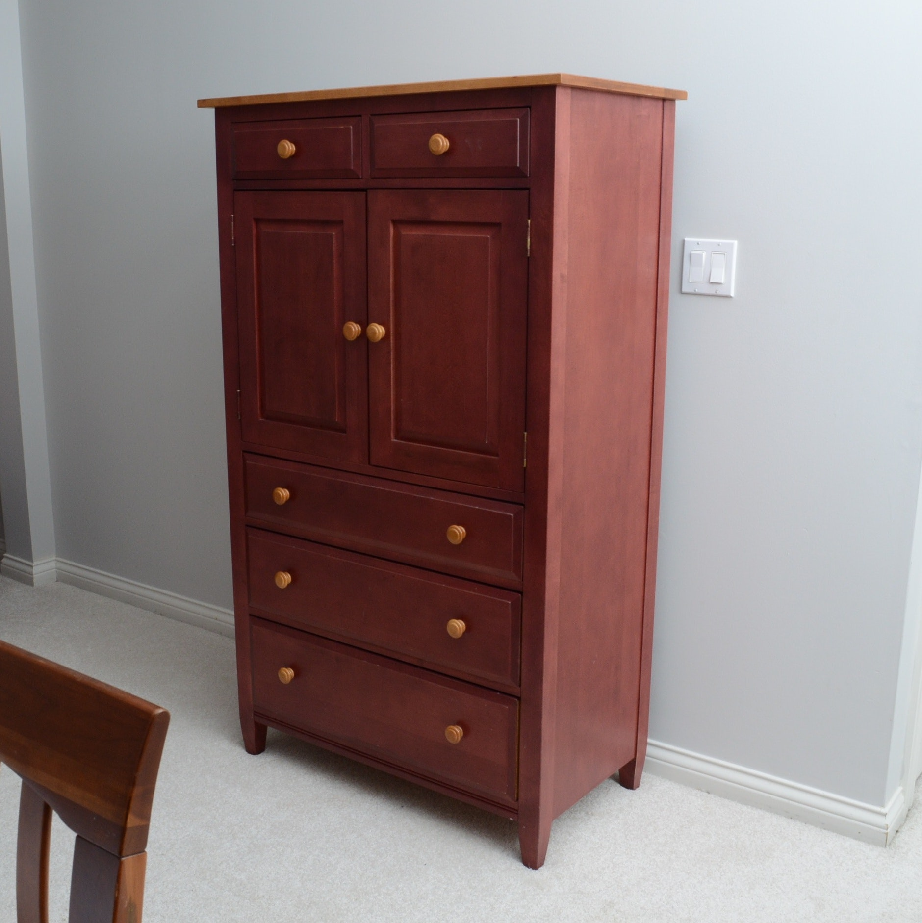 "Ethan Allen ""Country Colors"" Maple Cabinet"