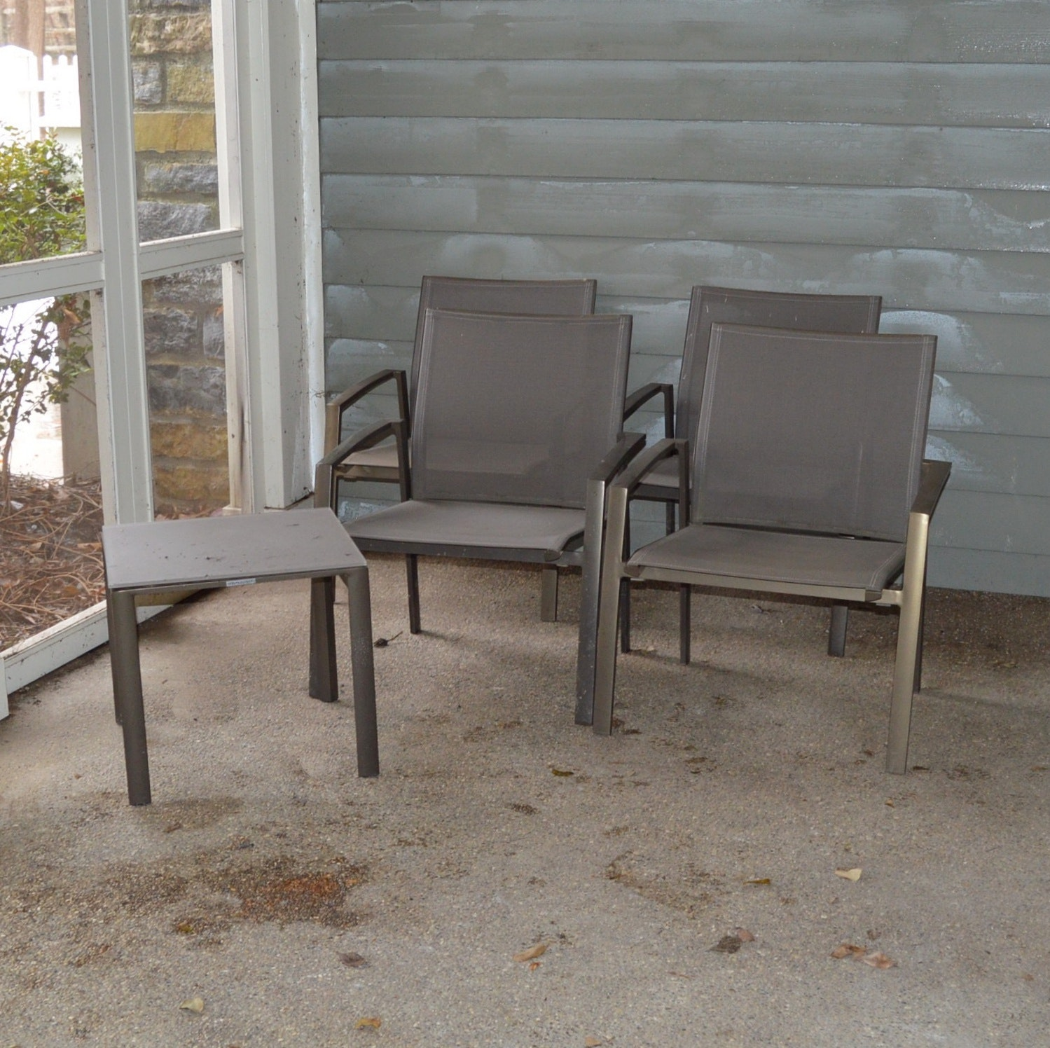 Frontgate Patio Chairs and Side Table