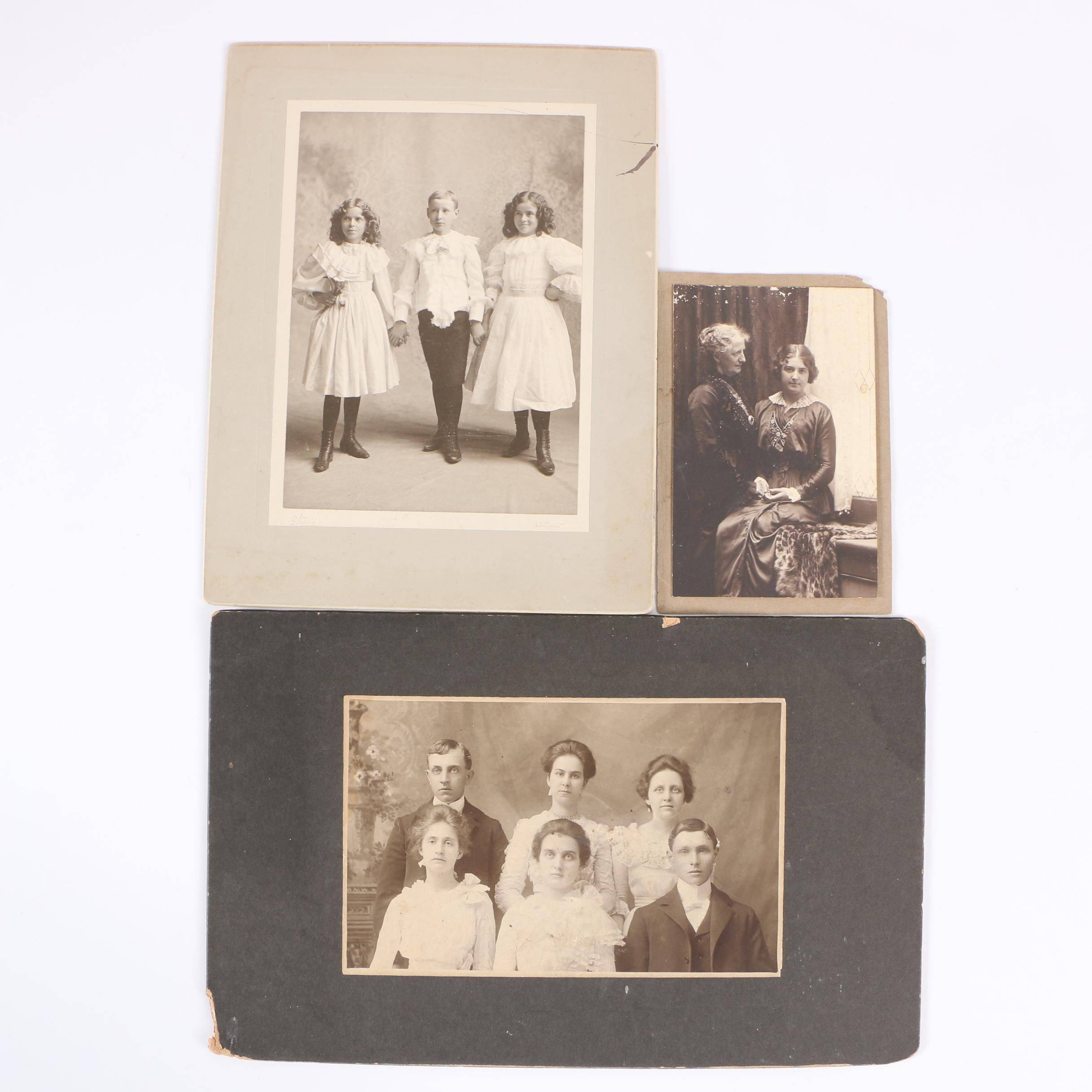 19th Century Photographs Including one by Julius Strauss