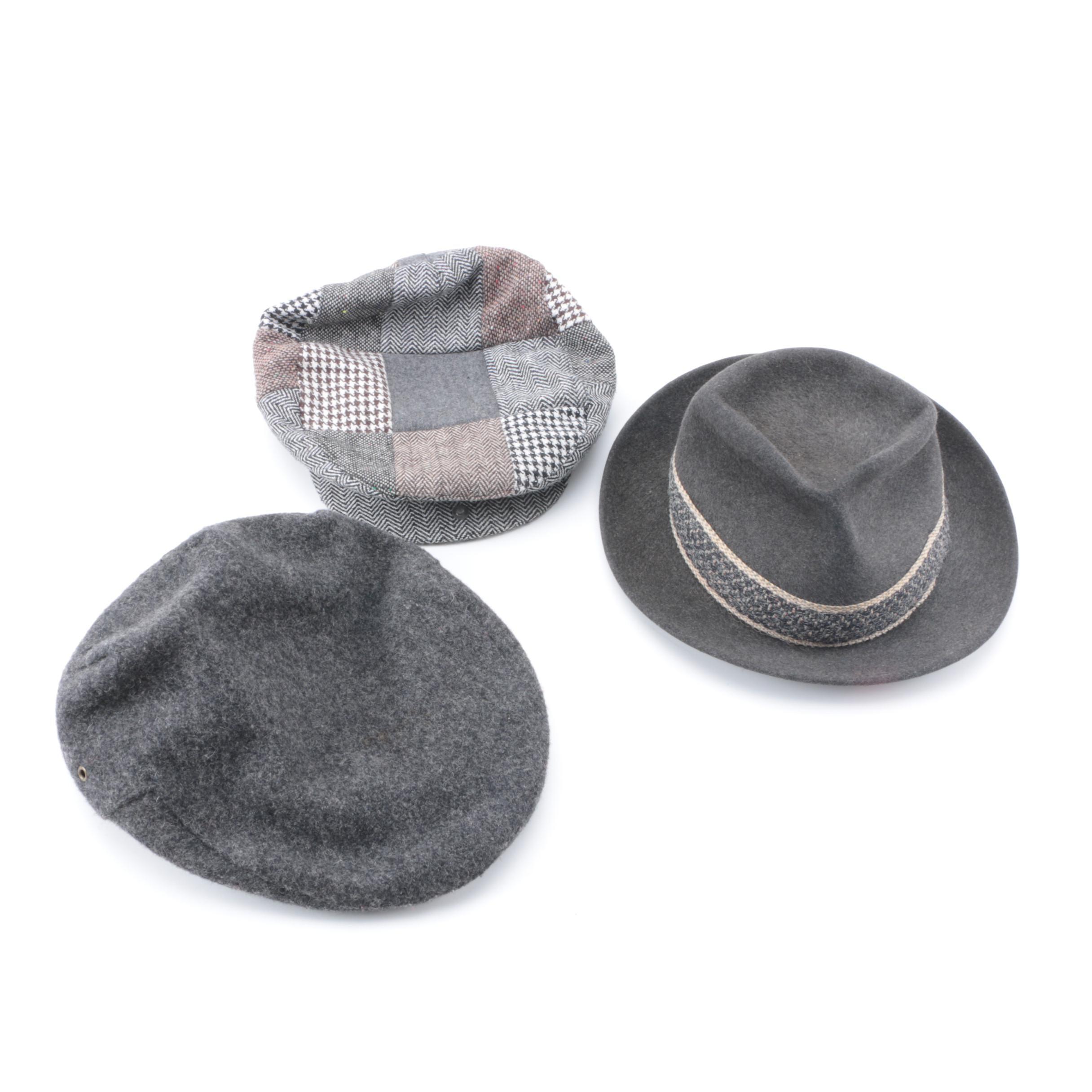 Men's Vintage Hats Including London Fog