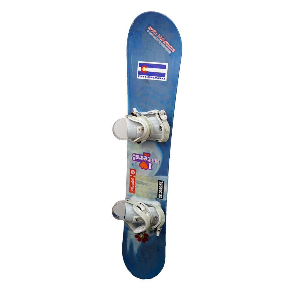 "Morrow ""Mantra"" 148cm Snowboard with Morrow ""Lotus"" Bindings"