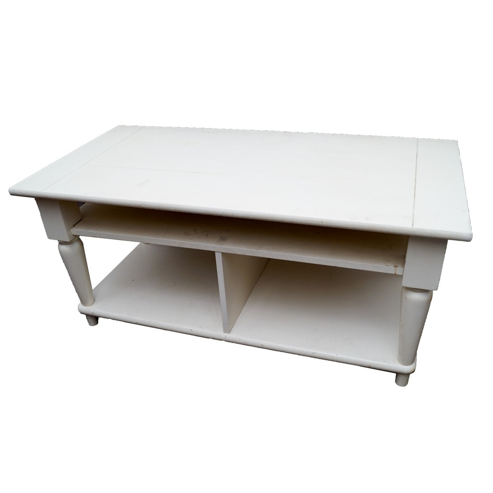 Traditional Style Painted Coffee Table Ebth