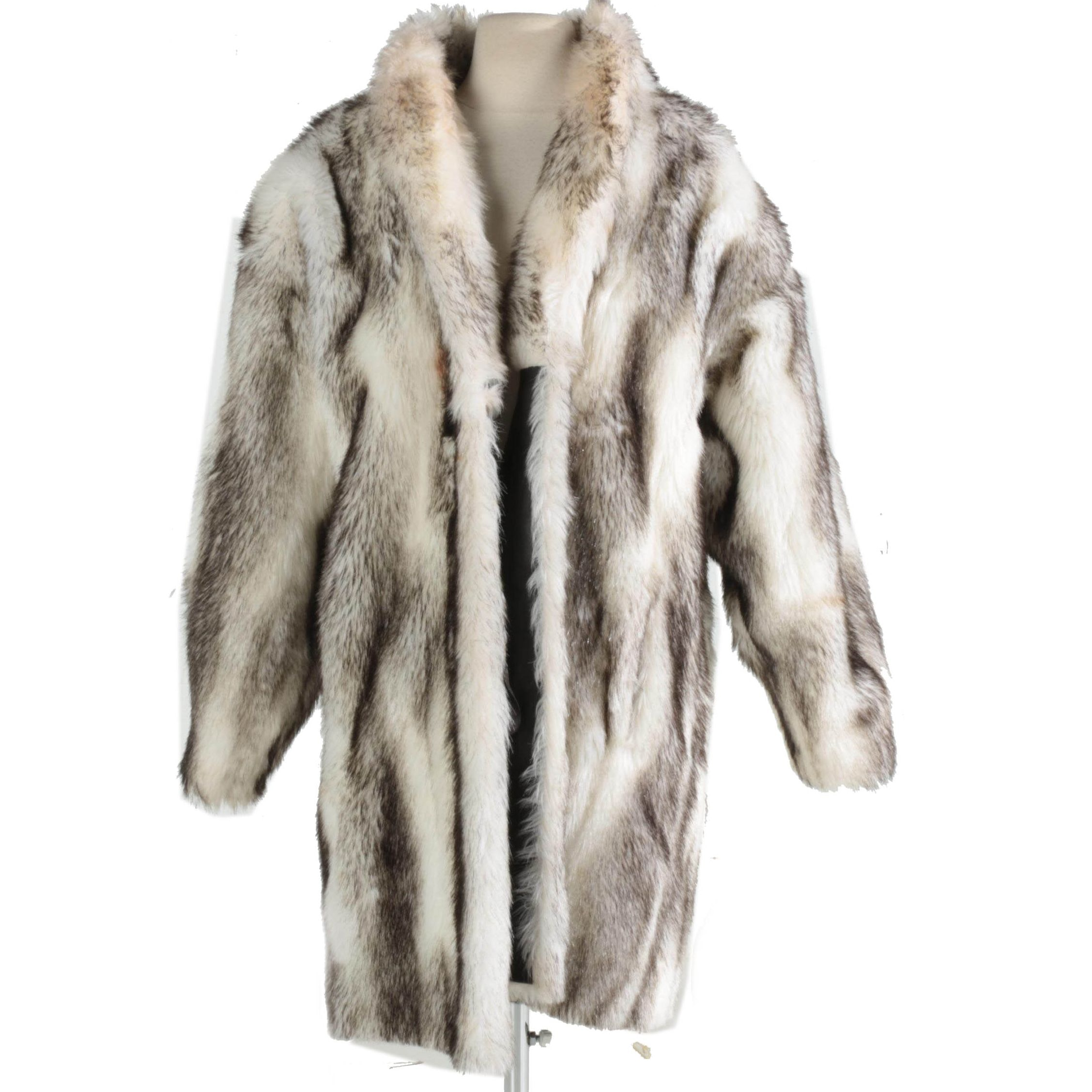 Vintage Faux Fur Coat by Russel Taylor