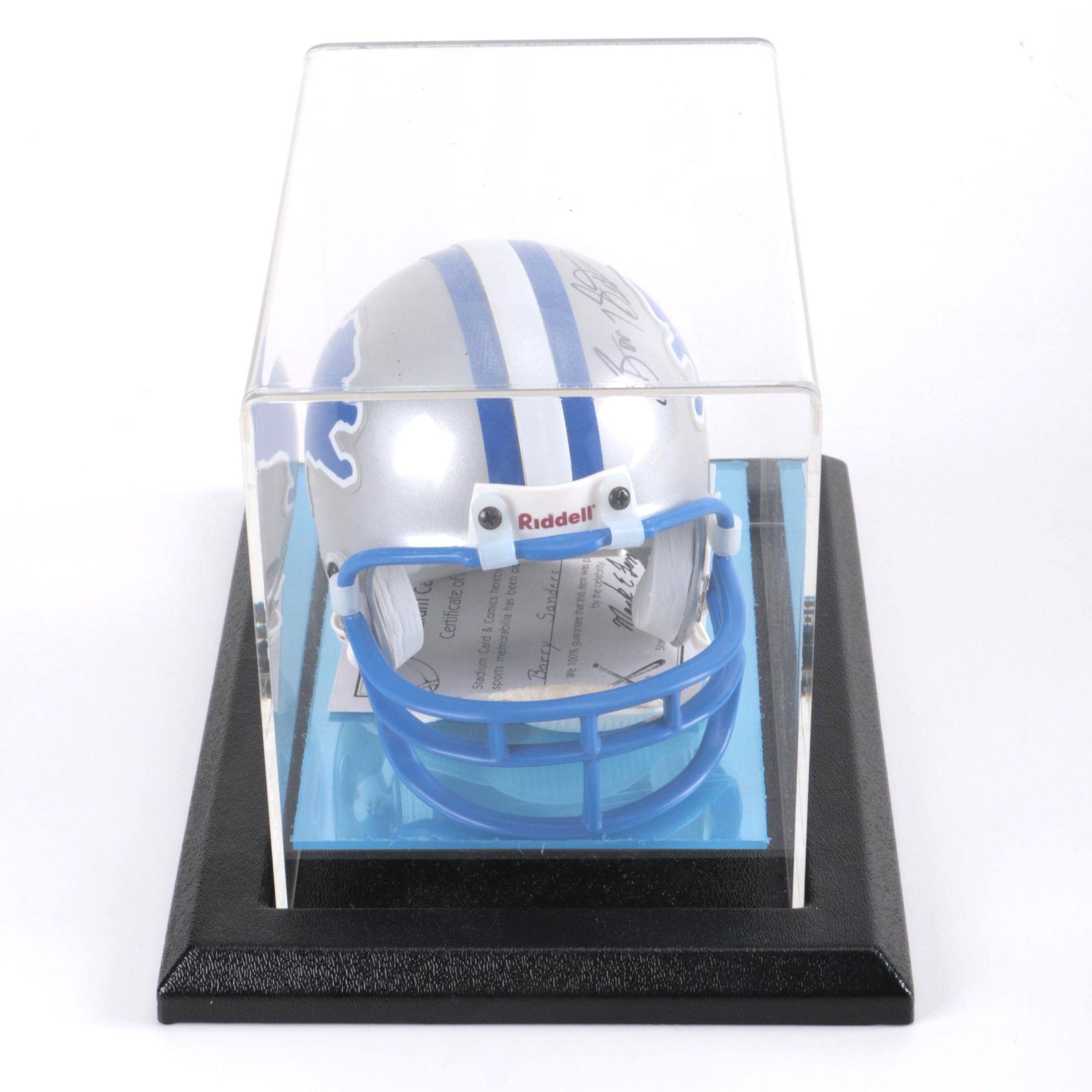 Barry Sanders Signed Detroit Lions Miniature Helmet