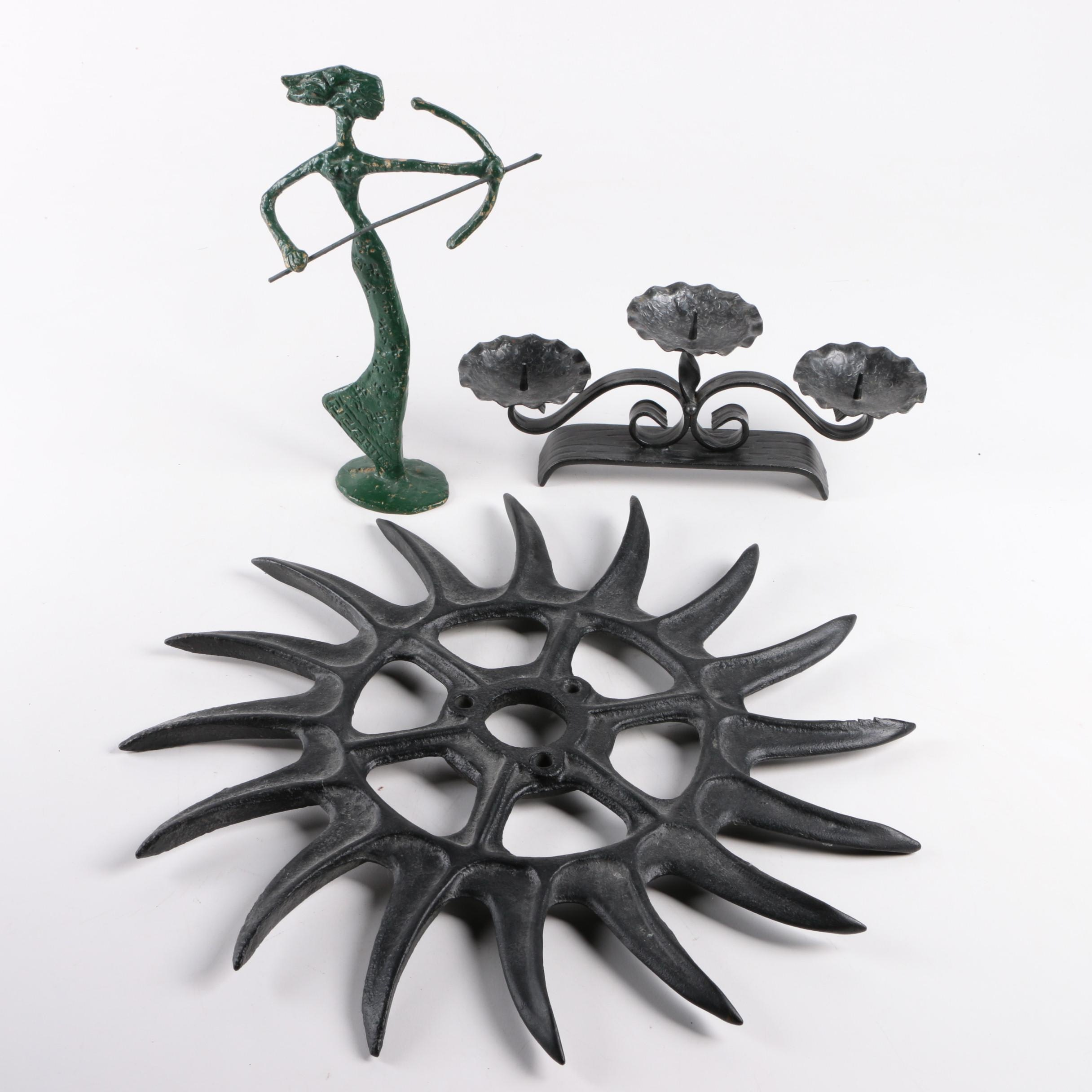 Collection of Metal Decor Items