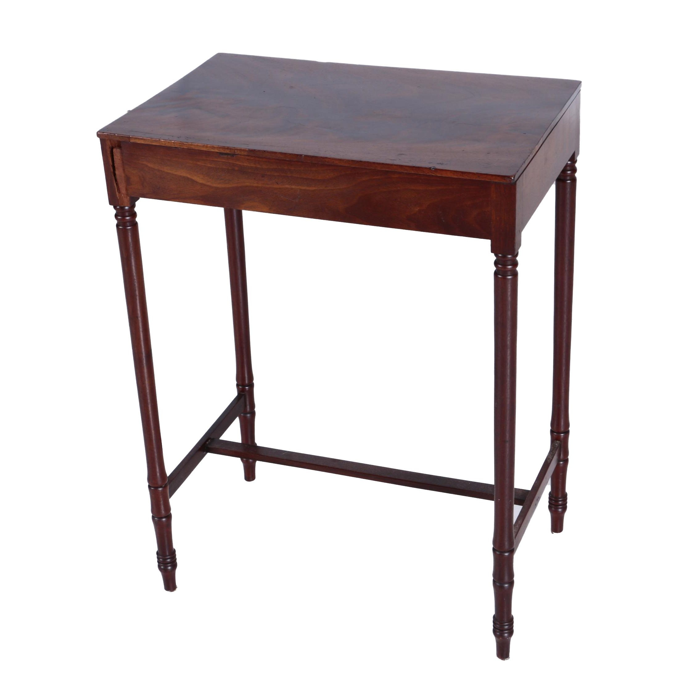 Vintage Federal Style Mahogany Side Table