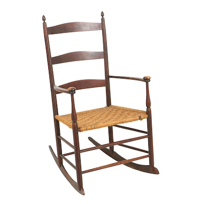 Antique Mt. Lebanon Shaker No. 5 Rocker, Circa Late 19th to Early 20th - Vintage Chairs, Antique Chairs And Retro Chairs Auction : EBTH