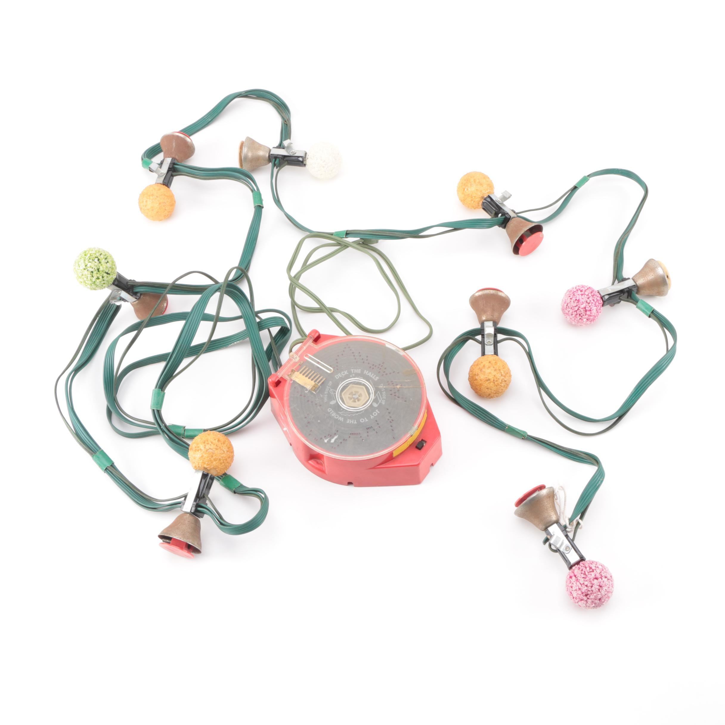 Vintage Christmas Electric Musical Bells with Lights