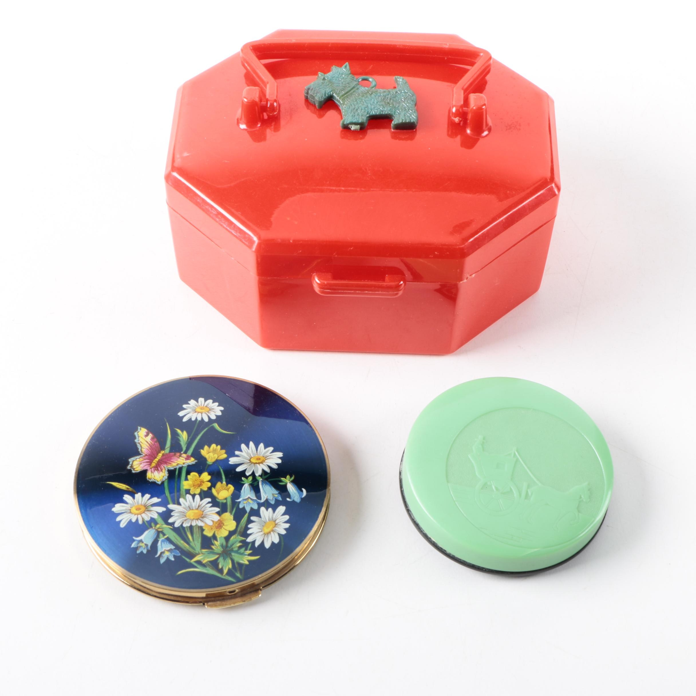 Red Scotty Dog Child's Purse and Compacts