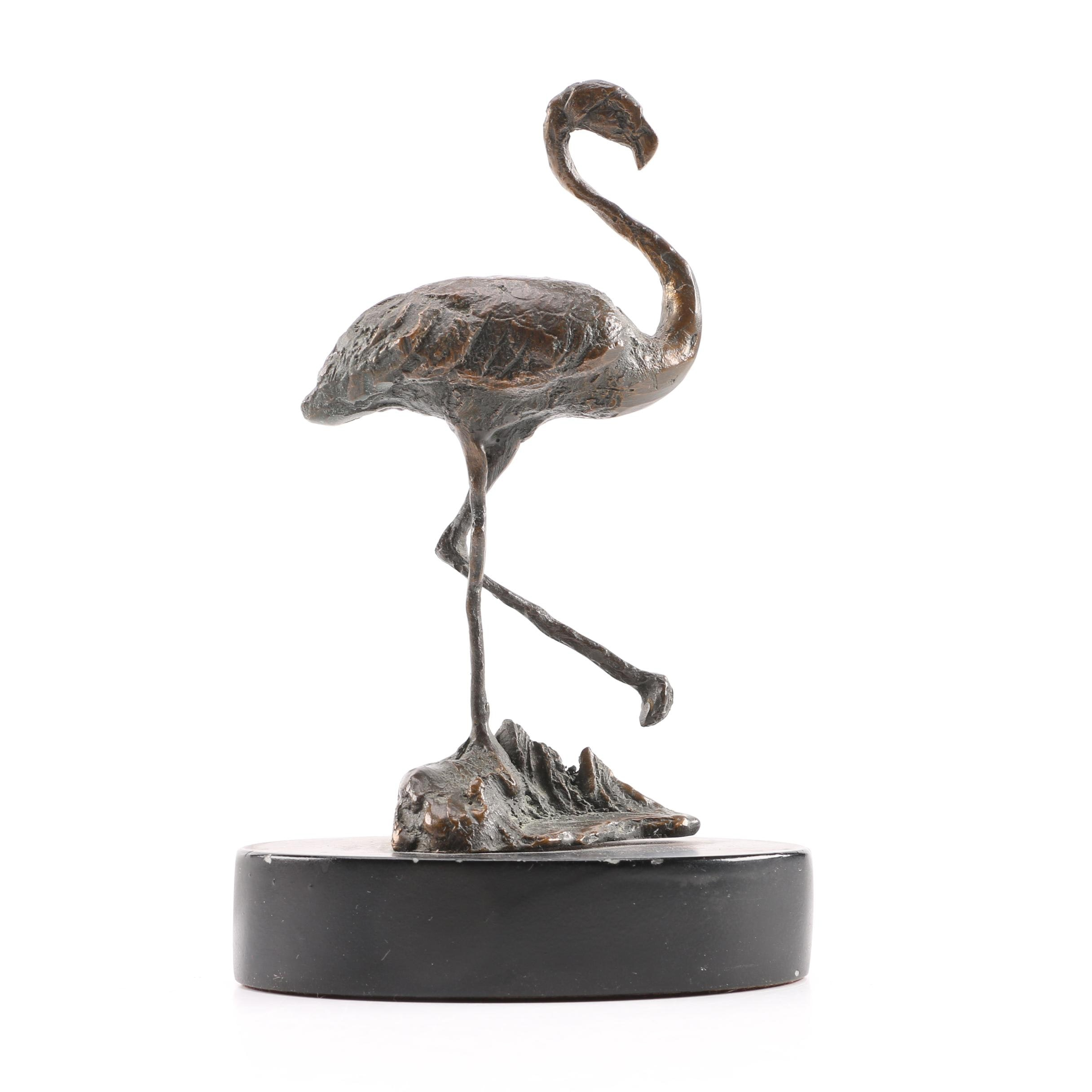 Bronze Flamingo Cast Figurine