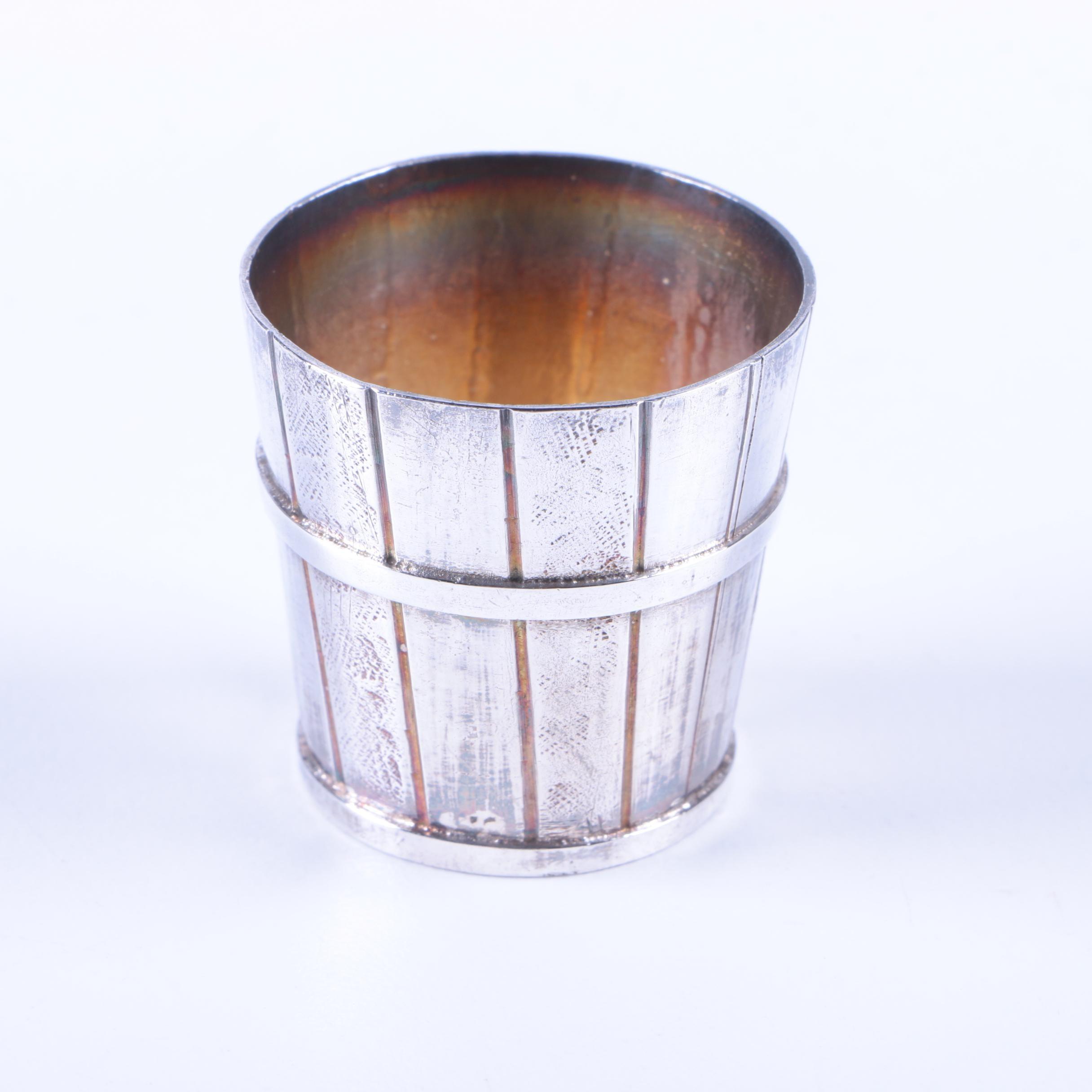 800 Silver Miniature Bucket