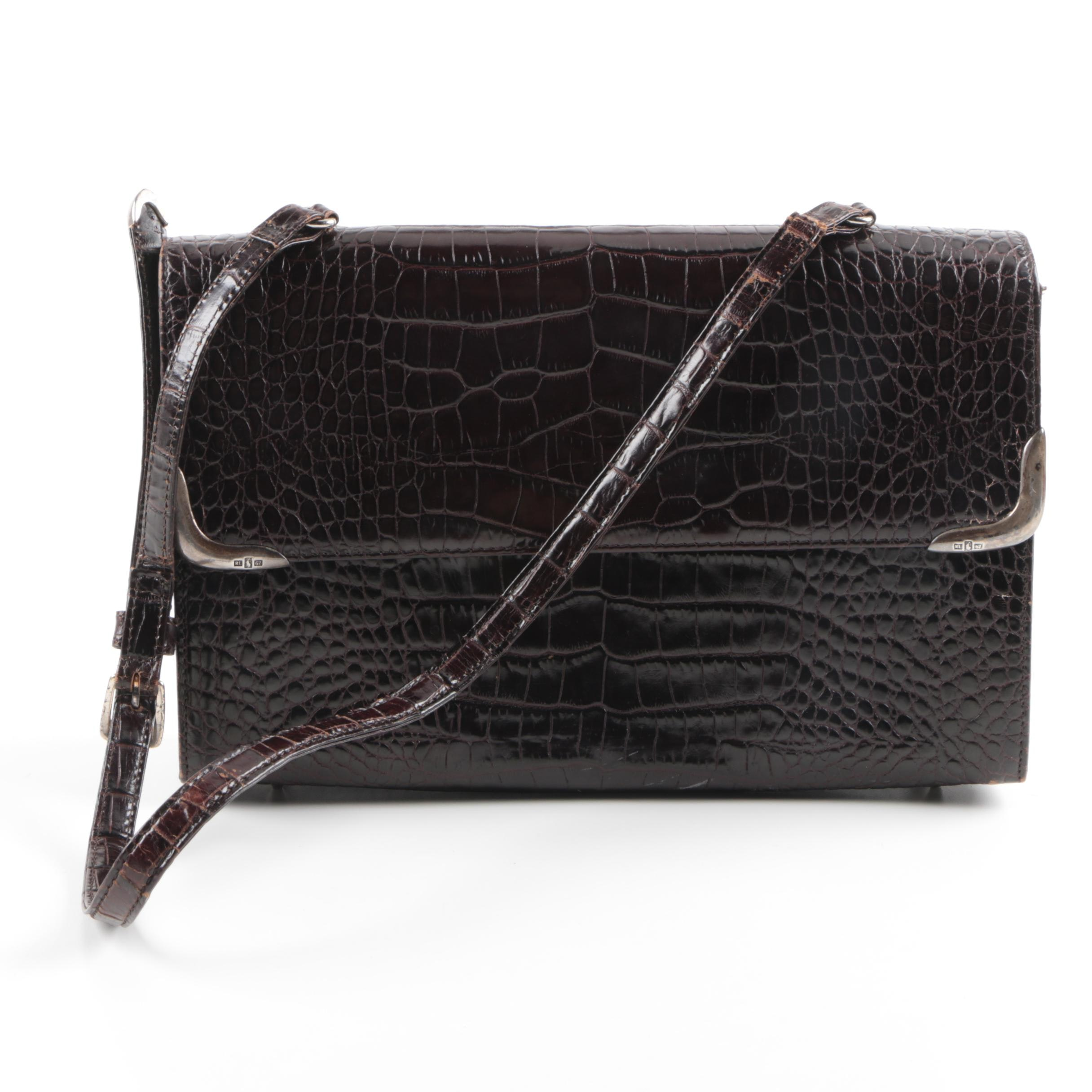 Ralph Lauren Alligator Embossed Handbag