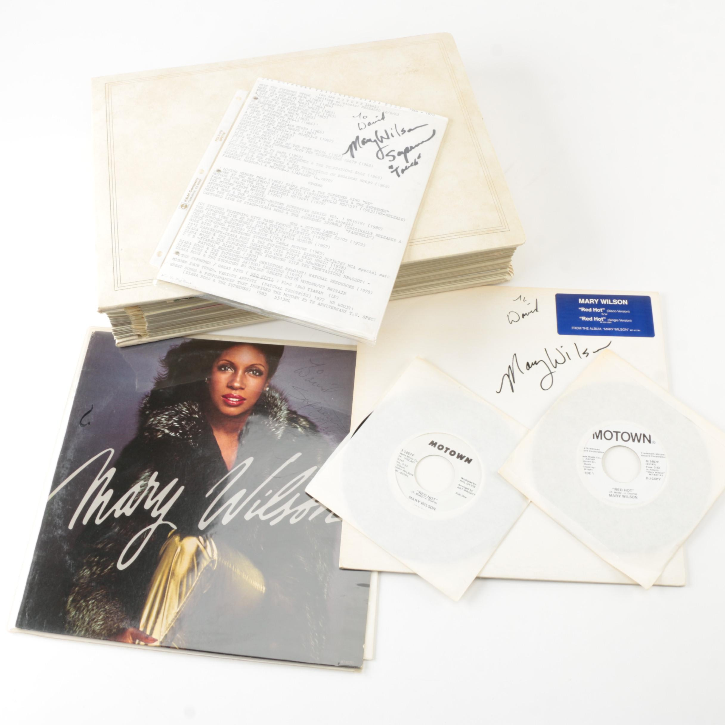Supremes Records and Memorabilia Including Mary Wilson Autographs