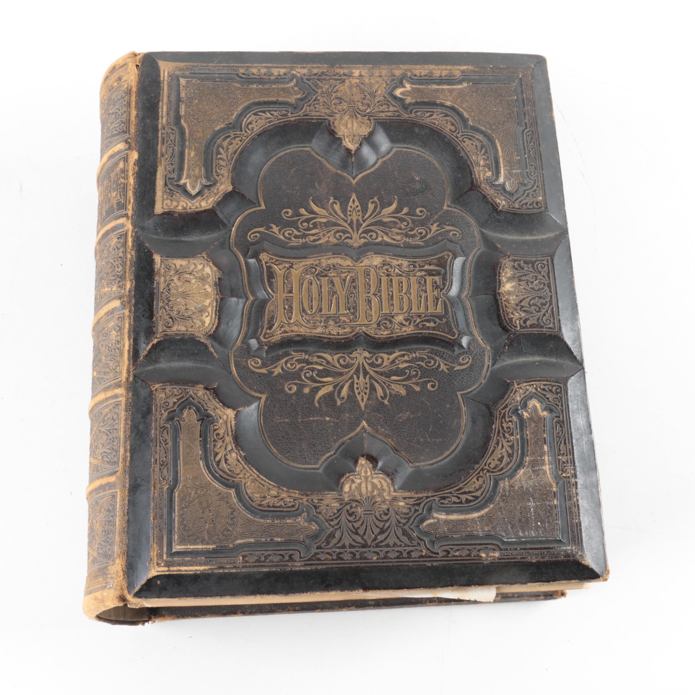 Antique Potter's Family Bible