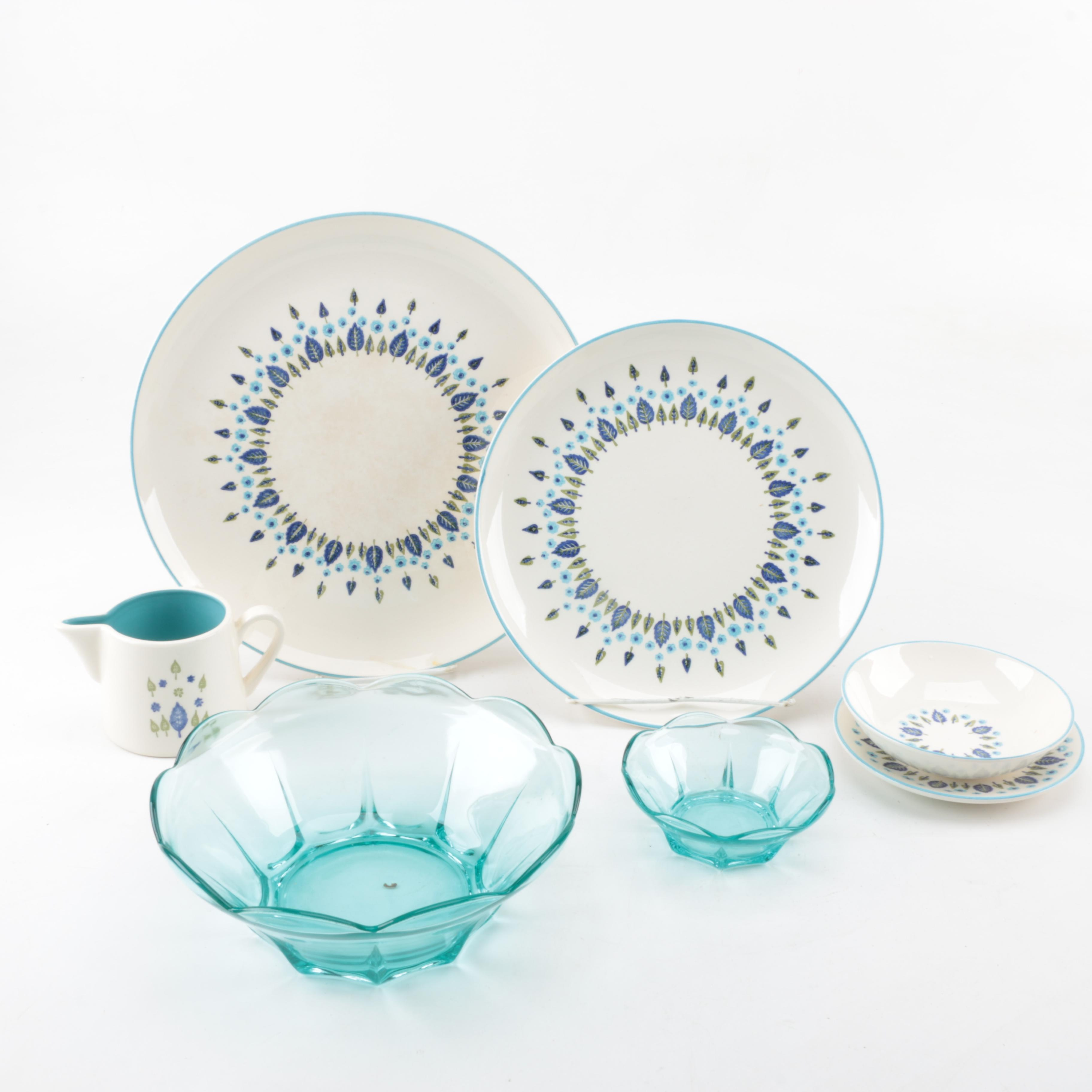 "Vintage Marcrest ""Swiss Alpine"" Tableware and Glassware"
