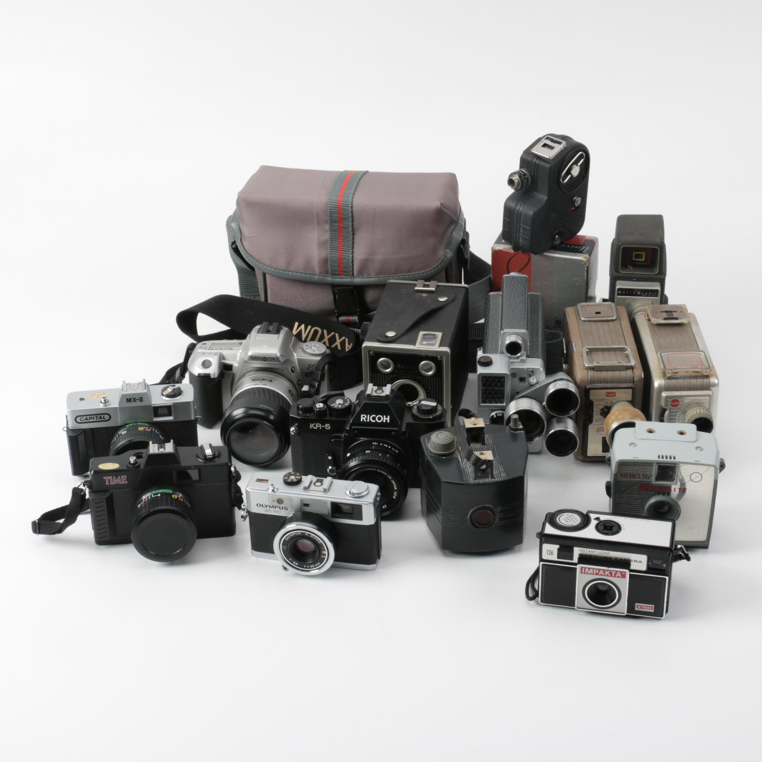 Olympus, Ricoh and Other Vintage Cameras