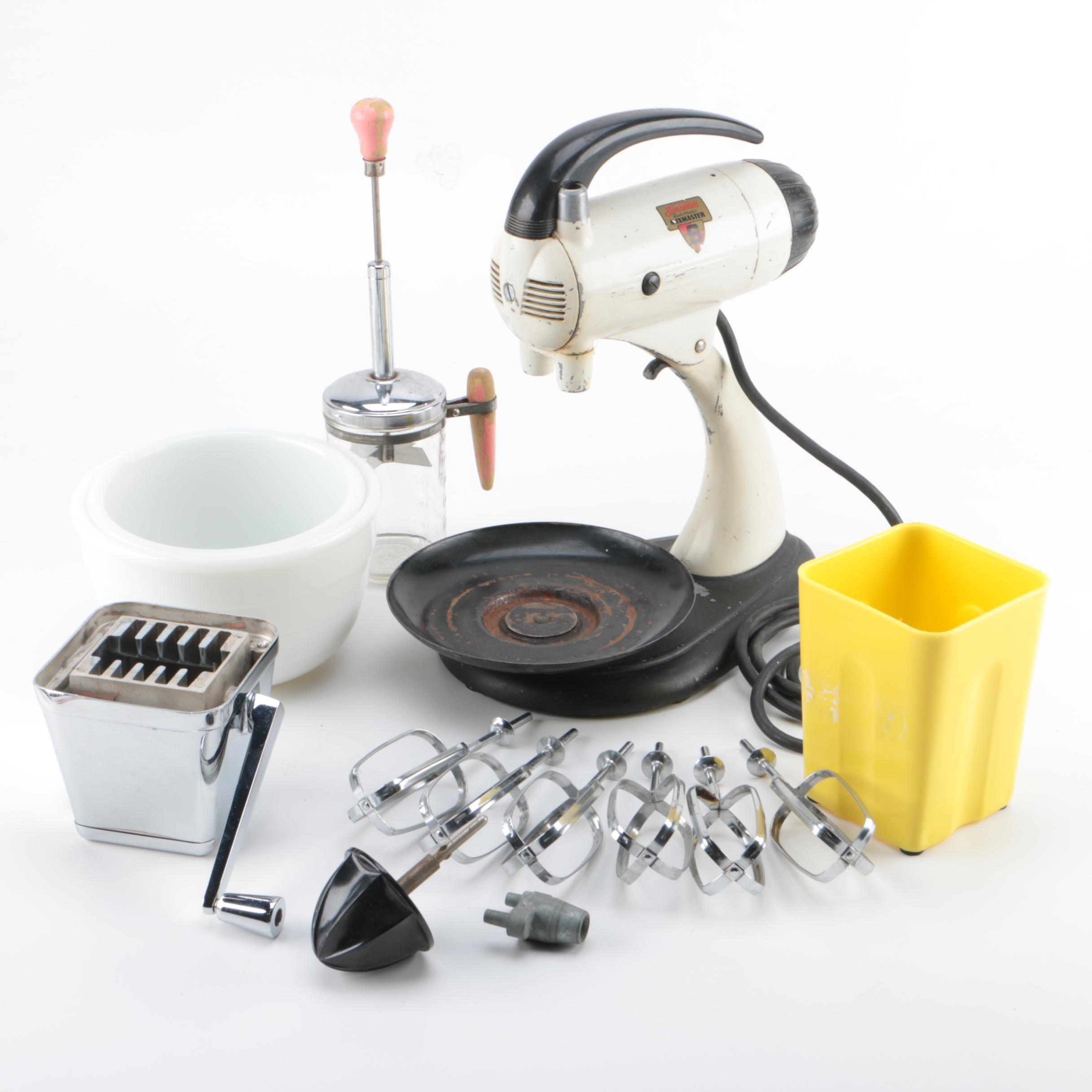 Sunbeam Mixmaster Stand Mixer, Manual Food Chopper and More