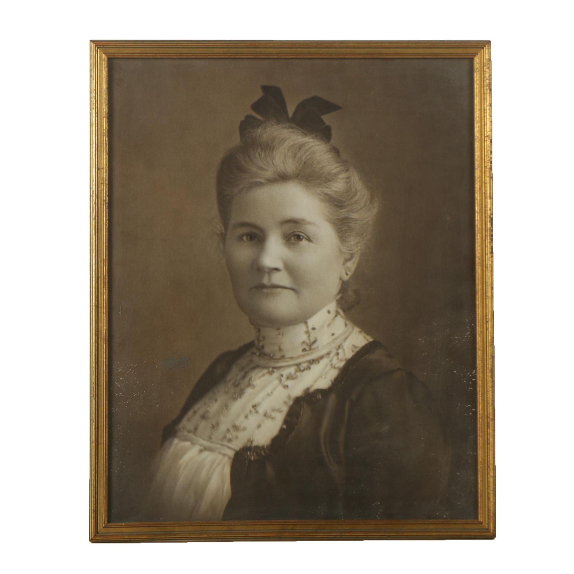 Circa Early 20th Century Gelatin Silver Photograph of Woman