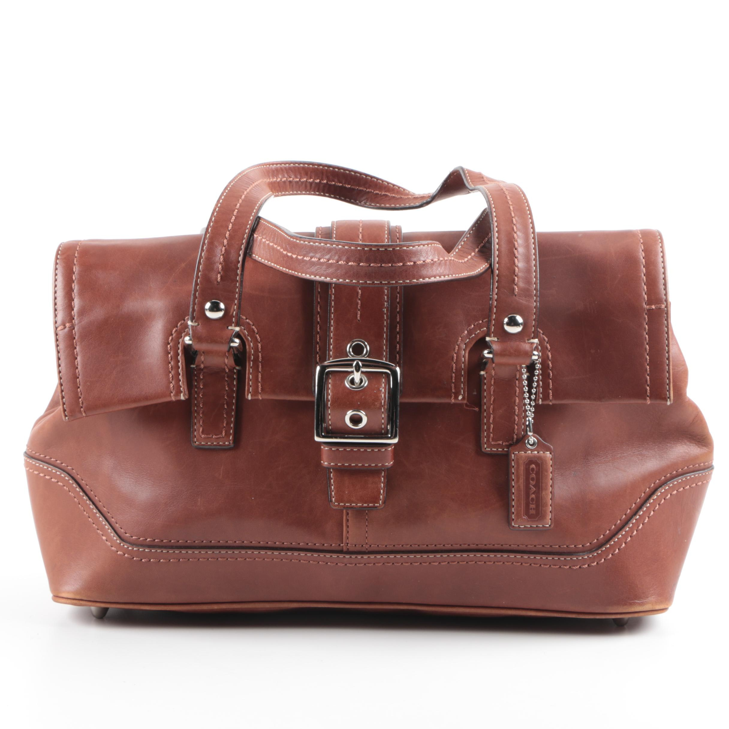 Coach Hamilton Brown Leather Satchel