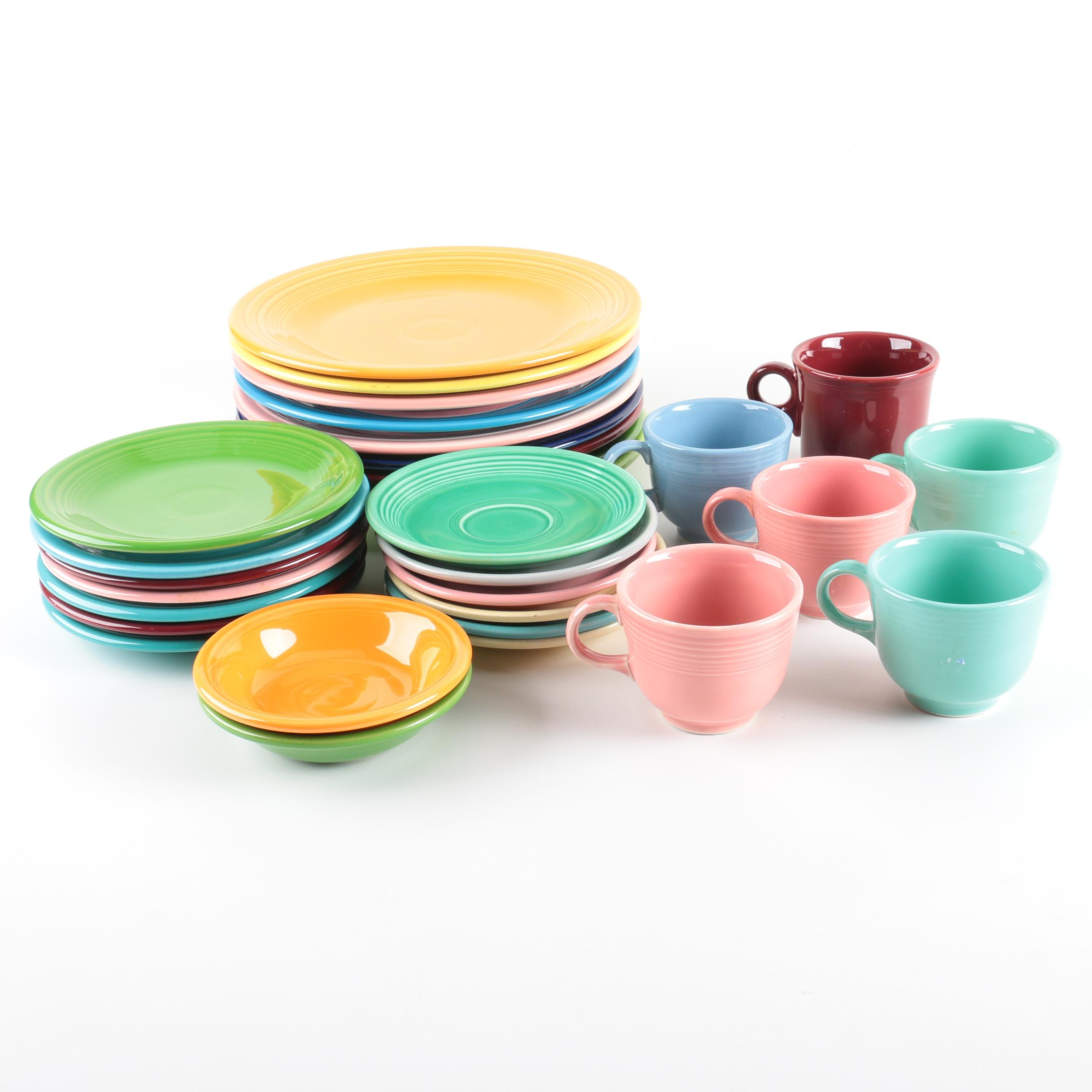 Assorted Fiesta Tableware
