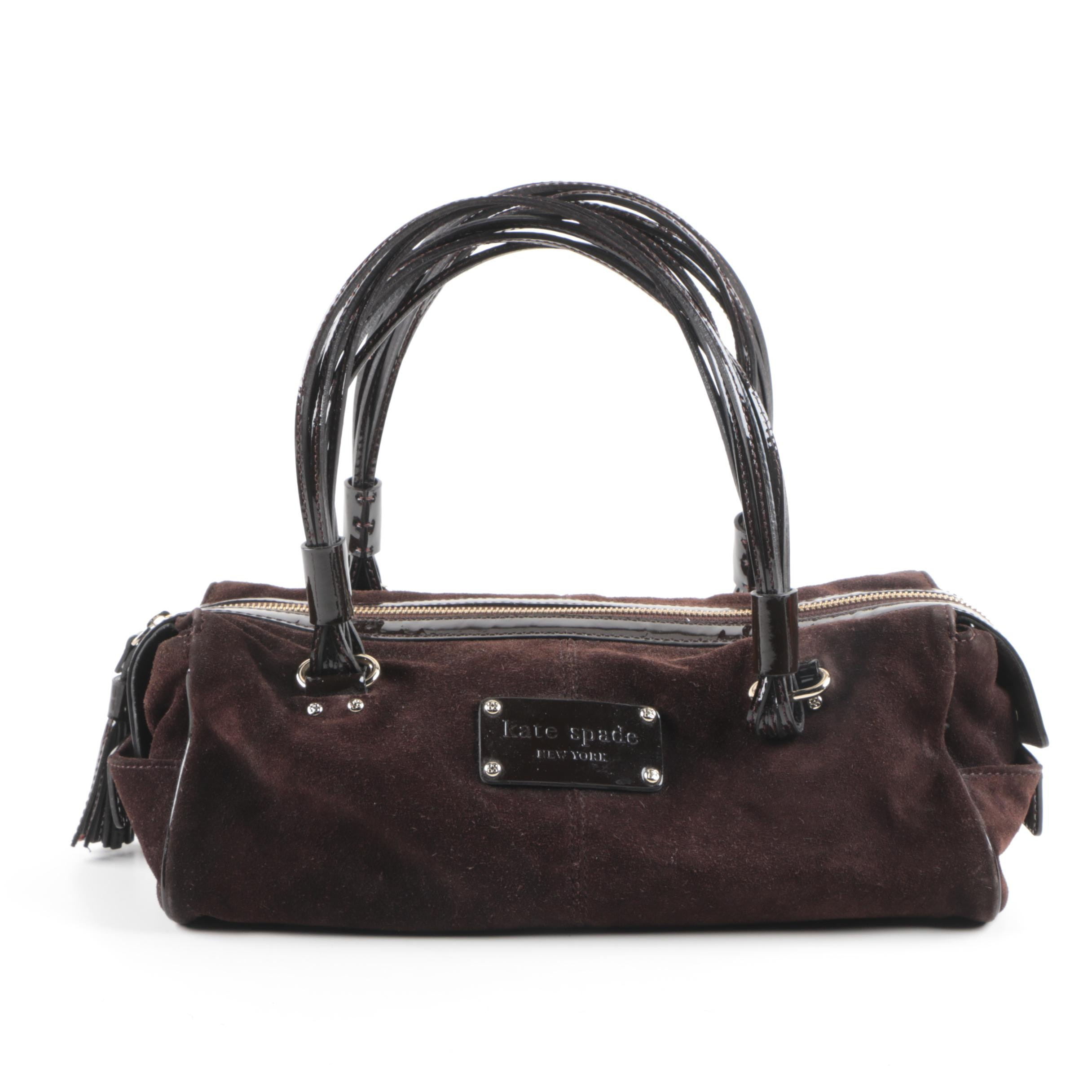 Kate Spade New York Brown Suede Shoulder Bag