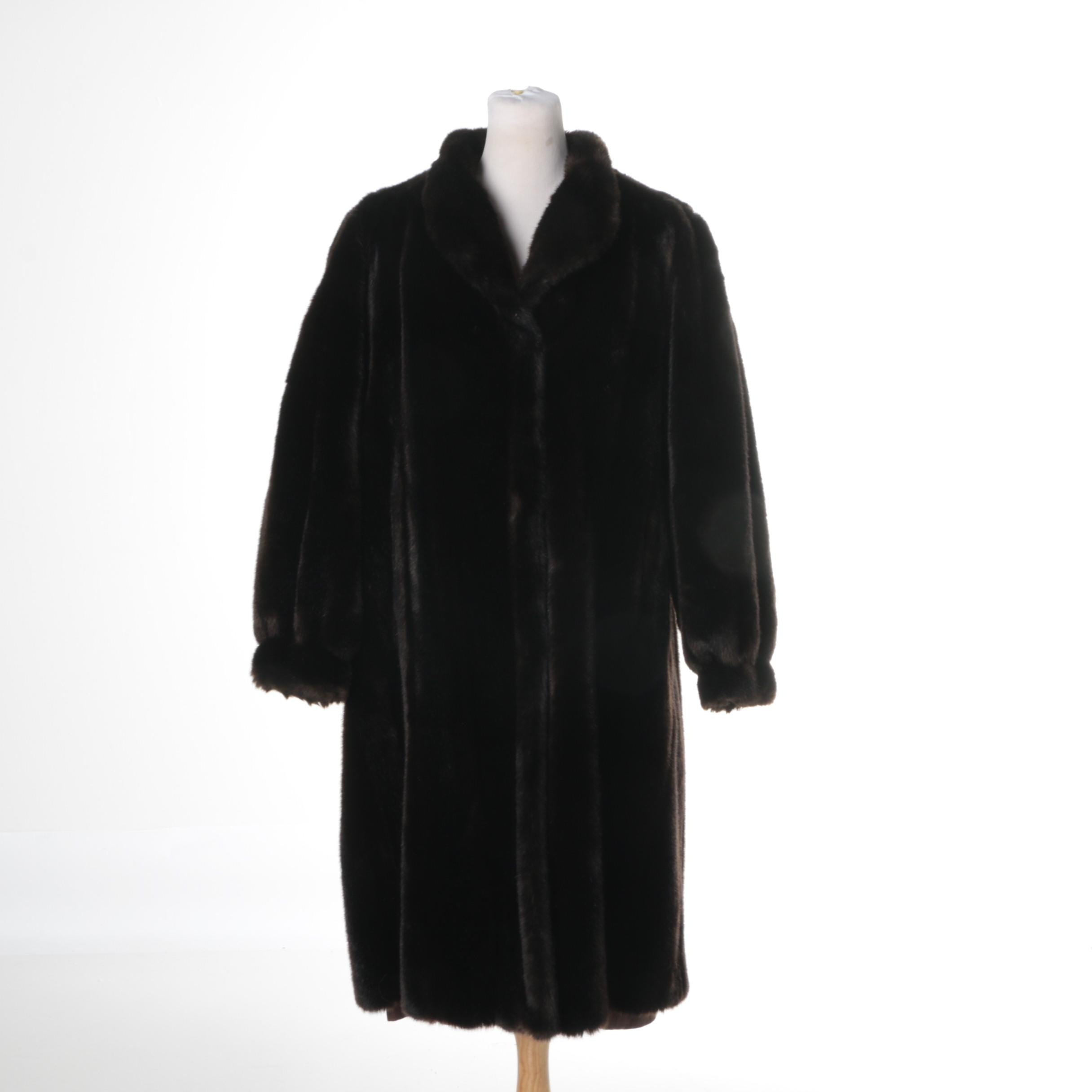 Women's Vintage Tissavel Faux Fur Coat