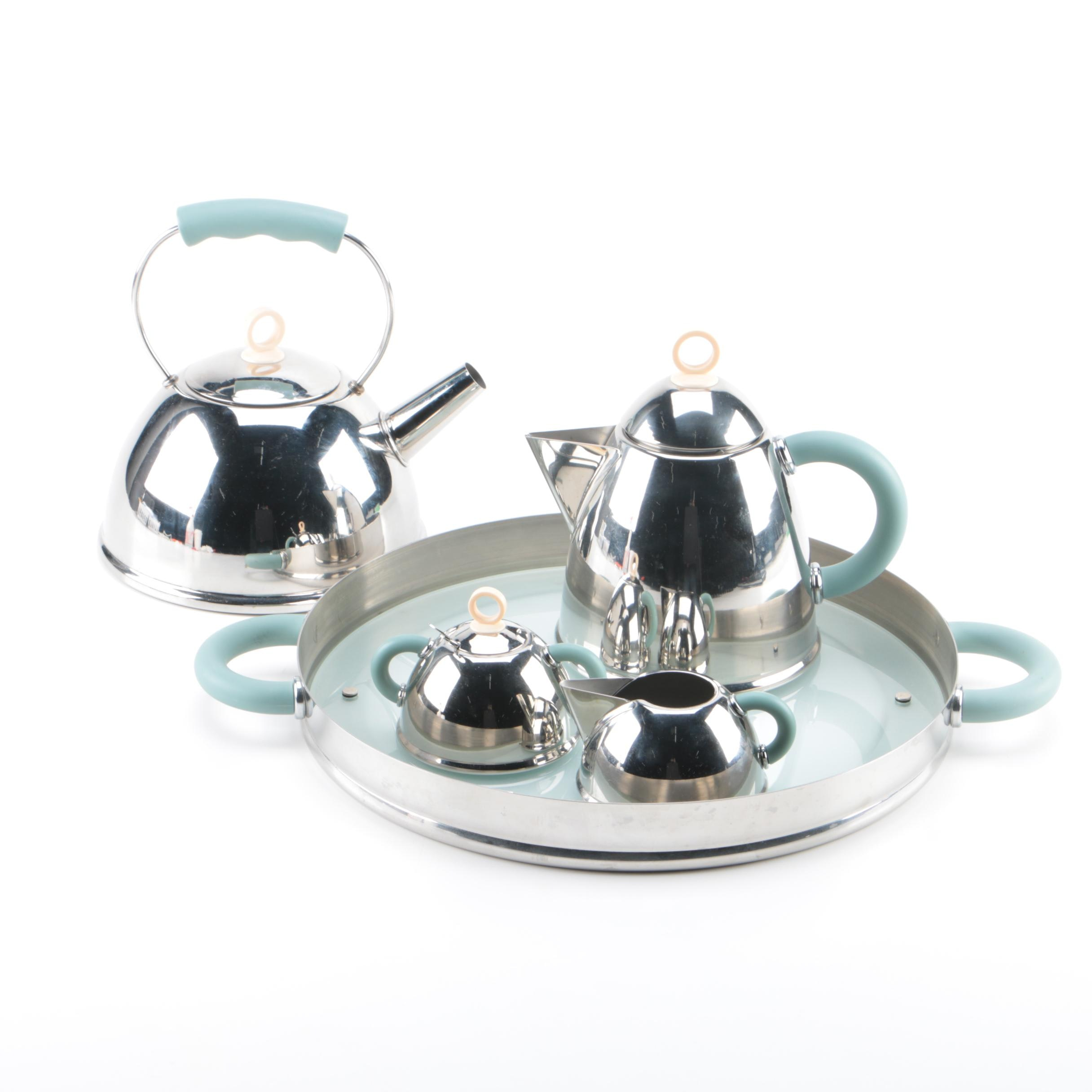 Taiwanese Stainless Tea Set with Kettle