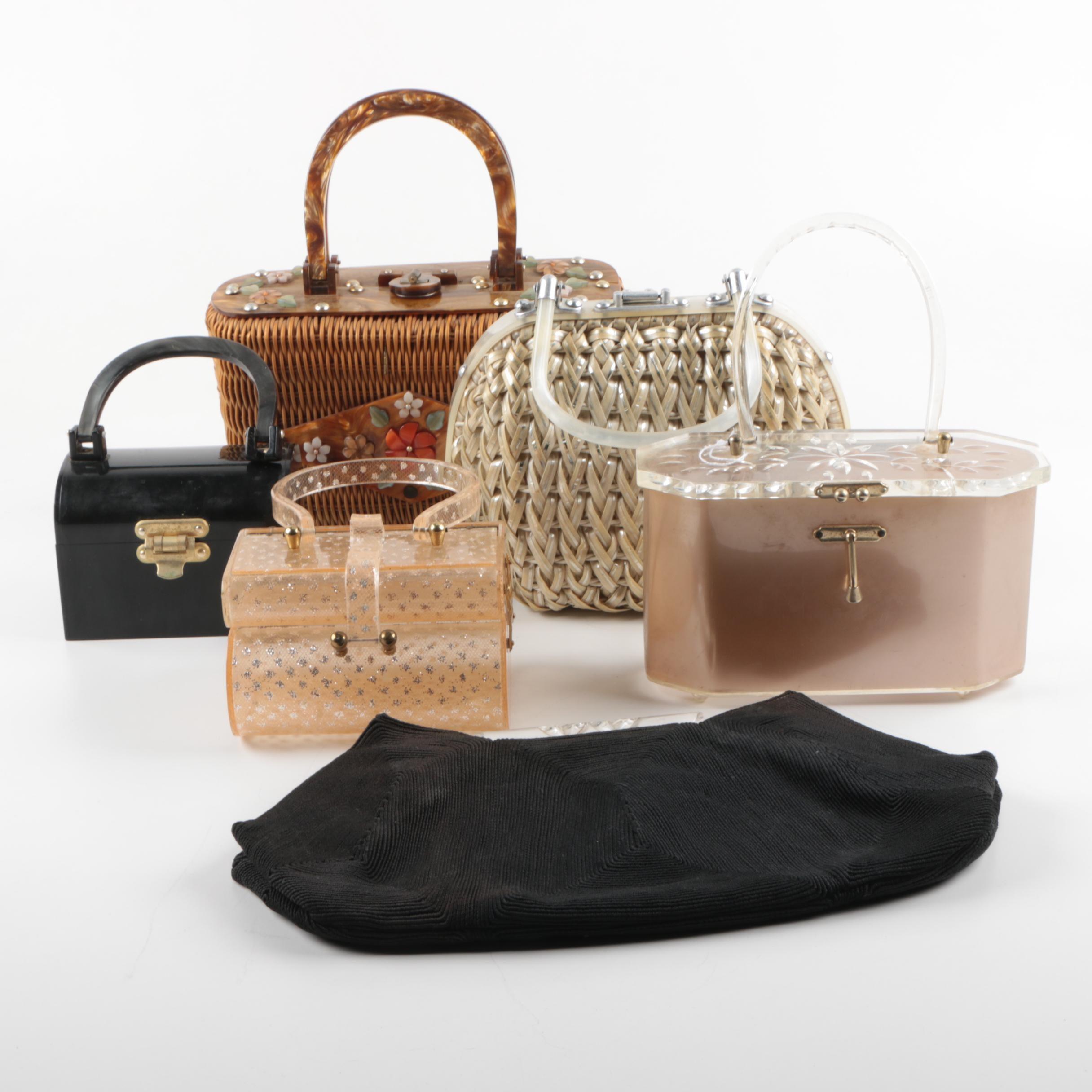 Vintage Acrylic and Fabric Handbags