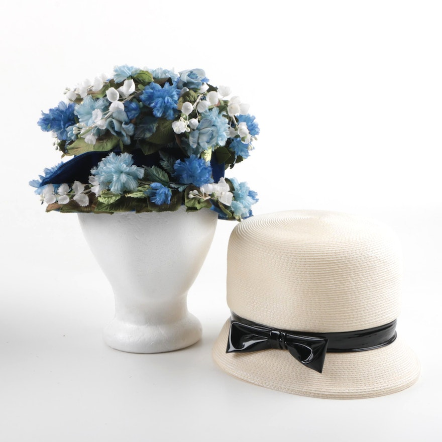 PRIORITY-Circa 1960s Vintage Hats by Cain-Sloan and Ranleigh   EBTH 43f31c4a8dd