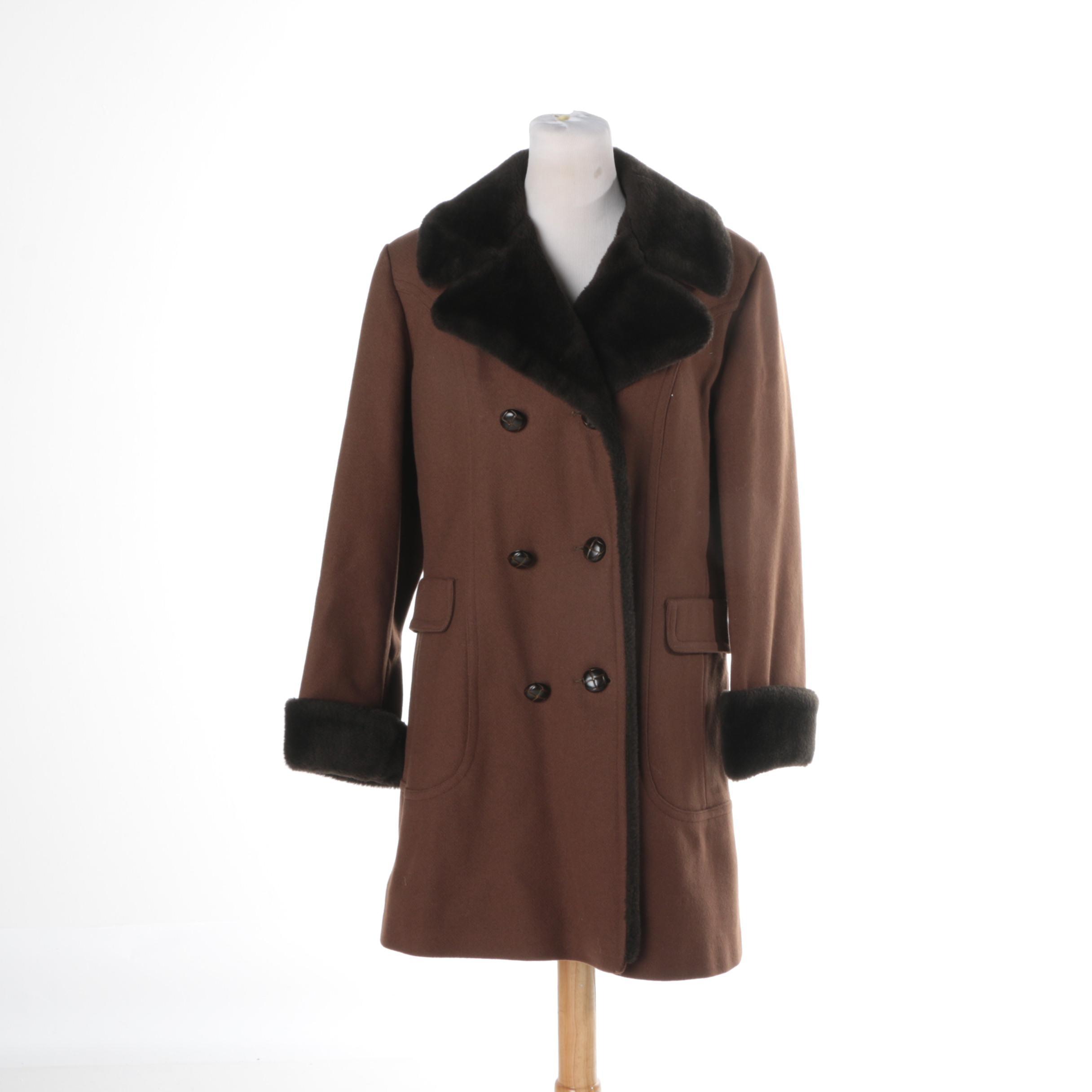Women's Brown Wool Coat