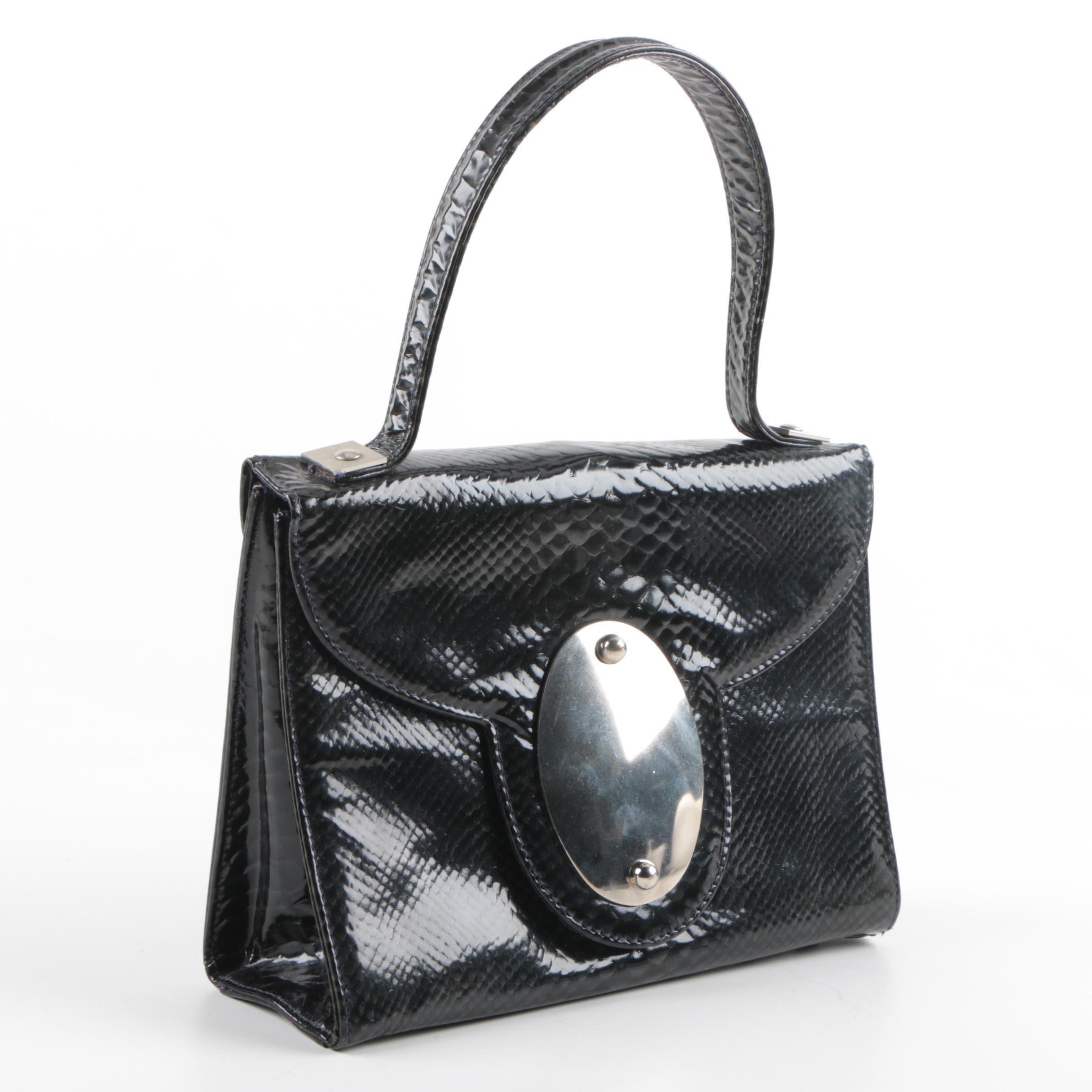 Vintage Marshall Field and Company Embossed Leather Handbag