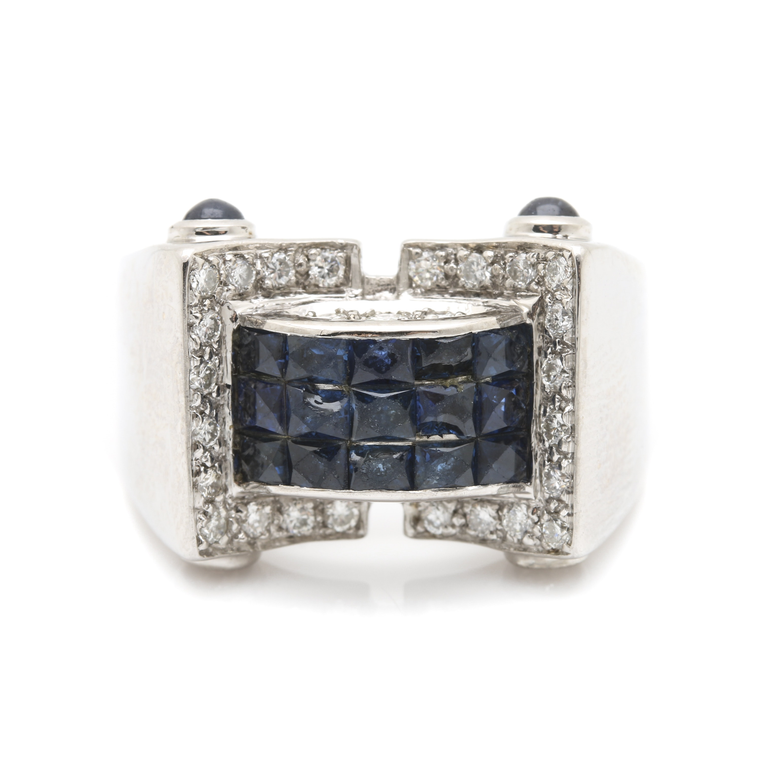 18K White Gold Sapphire and Diamond Ring from Estate of Herb Reed