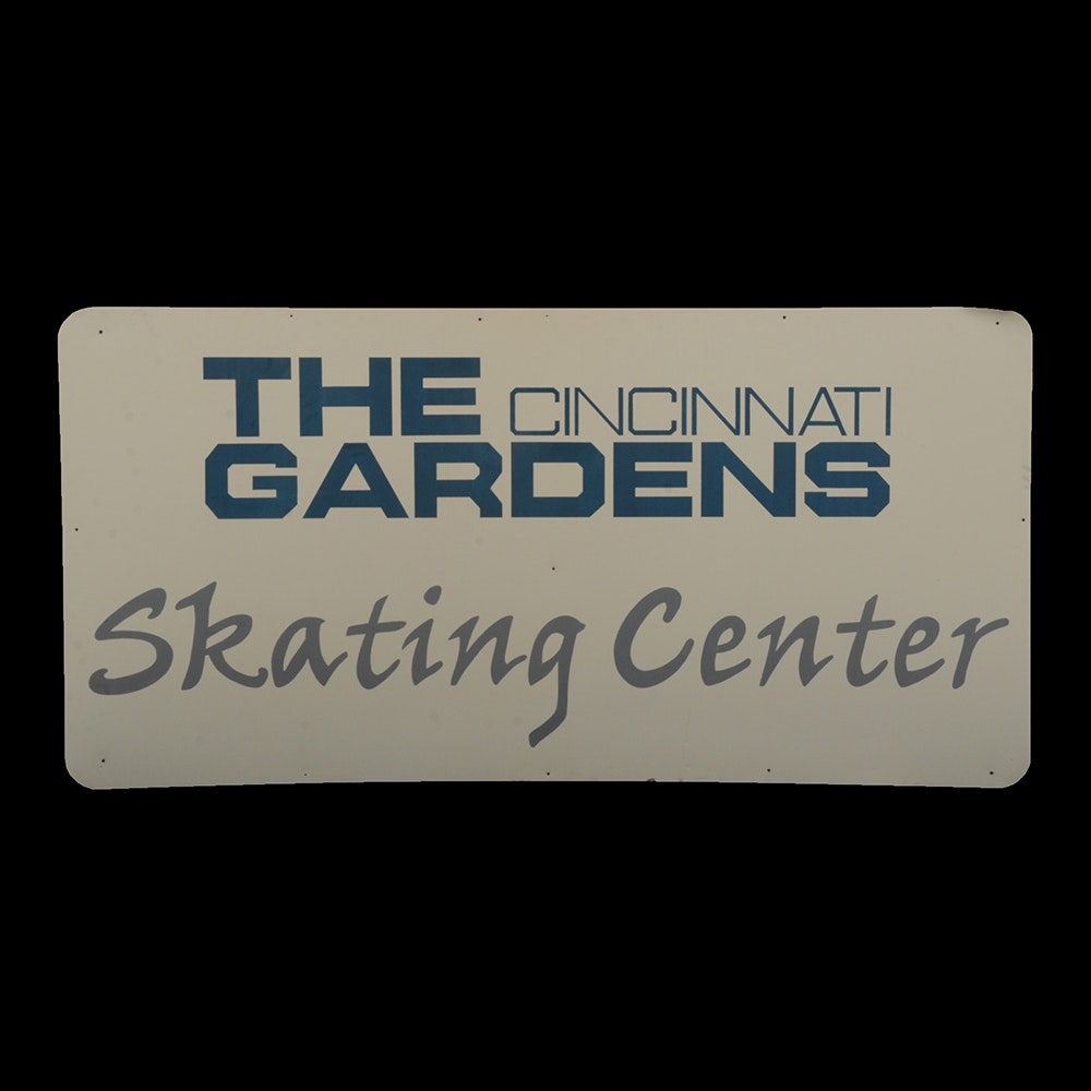 Skating Center Metal Sign